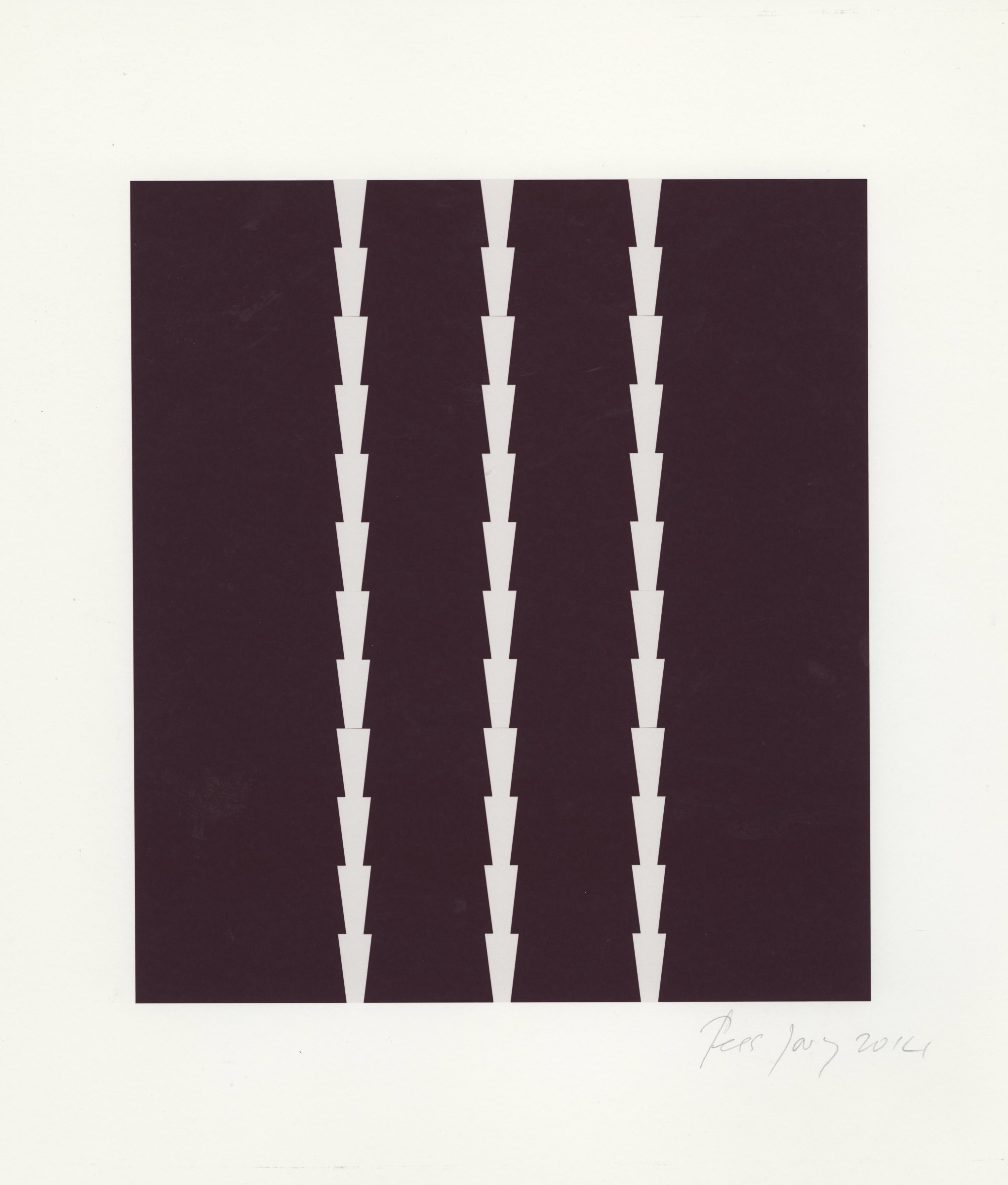 "<span class=""link fancybox-details-link""><a href=""/artists/91-tess-jaray/works/1574-tess-jaray-towards-thorns-series-2014/"">View Detail Page</a></span><div class=""artist""><strong>Tess Jaray</strong></div> <div class=""title""><em>Towards 'Thorns' series</em>, 2014</div> <div class=""medium"">Unique inkjet on paper</div> <div class=""dimensions"">35.2 x 29.6cm</div>"