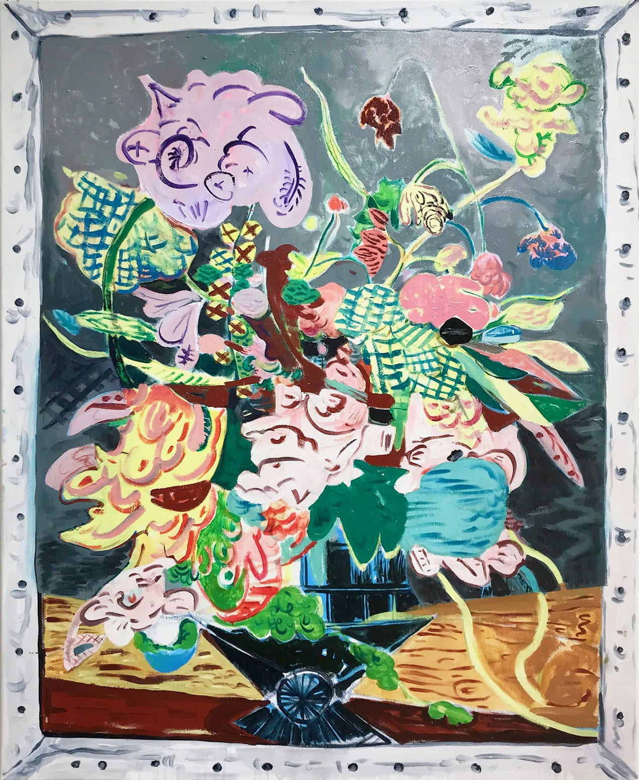 "<span class=""link fancybox-details-link""><a href=""/exhibitions/22/works/artworks500/"">View Detail Page</a></span><div class=""artist""><strong>David Price</strong></div> b.1972<div class=""title""><em>Still Life, May</em>, 2018</div><div class=""medium"">Oil on canvas</div><div class=""dimensions"">100 x 81cm </div>"