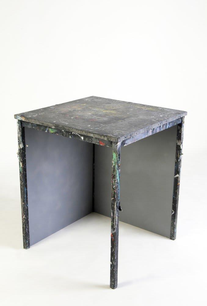 <span class=&#34;link fancybox-details-link&#34;><a href=&#34;/artists/16-paul-merrick/works/3804/&#34;>View Detail Page</a></span><div class=&#34;artist&#34;><strong>Paul Merrick</strong></div> <div class=&#34;title&#34;><em>Untitled (Table)</em>, 2009</div> <div class=&#34;medium&#34;>Table, mdf, spray paint</div> <div class=&#34;dimensions&#34;>71 x 60 x 60 cm</div><div class=&#34;copyright_line&#34;>Copyright The Artist</div>