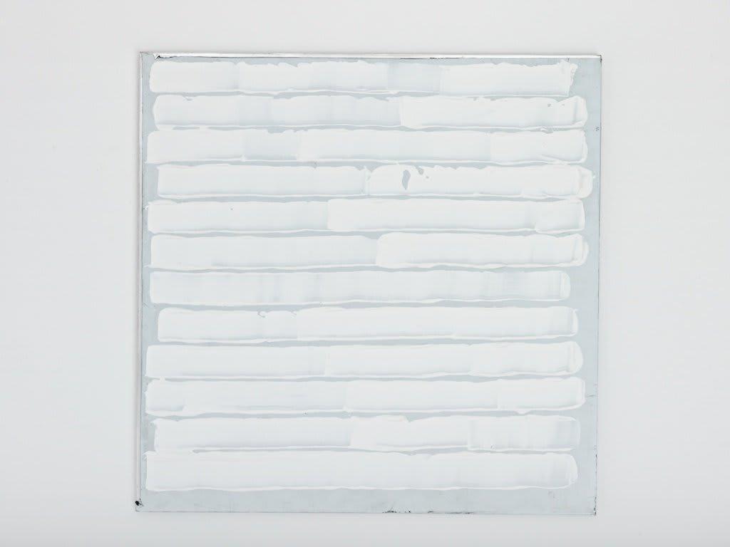 <span class=&#34;link fancybox-details-link&#34;><a href=&#34;/artists/16-paul-merrick/works/7802/&#34;>View Detail Page</a></span><div class=&#34;artist&#34;><strong>Paul Merrick</strong></div> <div class=&#34;title&#34;><em>Untitled (Titanium)</em>, 2012</div> <div class=&#34;medium&#34;>Acrylic on Aluminium</div> <div class=&#34;dimensions&#34;>20 x 20 cm<br />7 7/8 x 7 7/8 in</div><div class=&#34;copyright_line&#34;>Copyright The Artist</div>