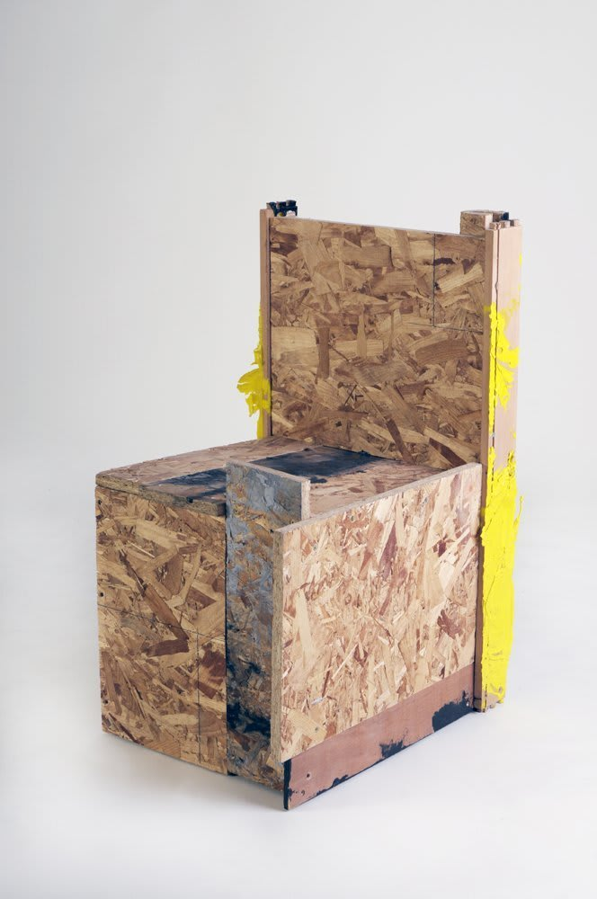 <span class=&#34;link fancybox-details-link&#34;><a href=&#34;/artists/16-paul-merrick/works/3801/&#34;>View Detail Page</a></span><div class=&#34;artist&#34;><strong>Paul Merrick</strong></div> <div class=&#34;title&#34;><em>Untitled (Chair)</em>, 2009</div> <div class=&#34;medium&#34;>Sterling board, ply wood, aluminium, gloss paint</div> <div class=&#34;dimensions&#34;>81 x 48 x 56 cm</div><div class=&#34;copyright_line&#34;>Copyright The Artist</div>