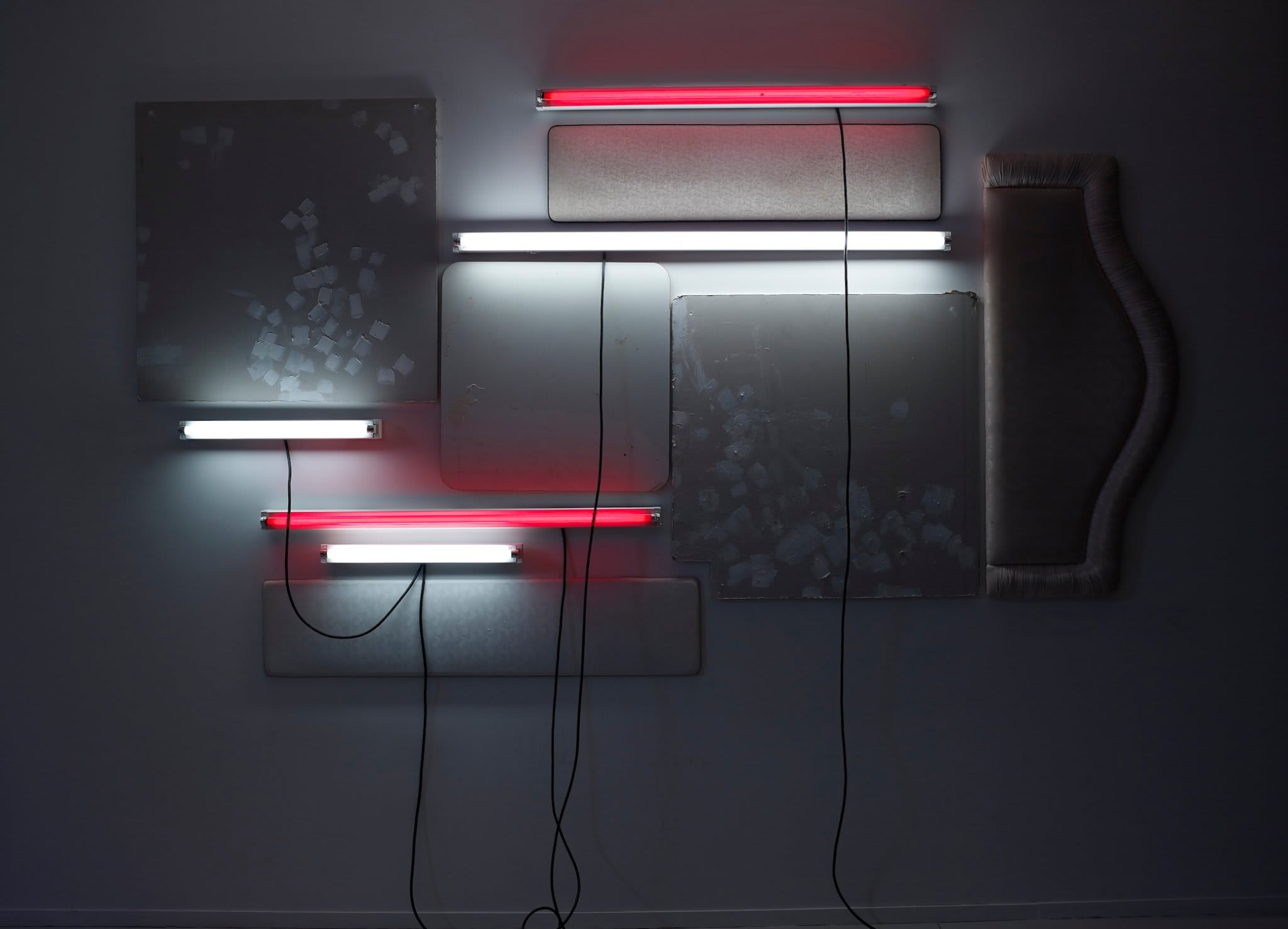 <span class=&#34;link fancybox-details-link&#34;><a href=&#34;/artists/16-paul-merrick/works/8118/&#34;>View Detail Page</a></span><div class=&#34;artist&#34;><strong>Paul Merrick</strong></div> <div class=&#34;title&#34;><em>Untitled (Hotel/Motel)</em>, 2013</div> <div class=&#34;medium&#34;>Plasterboard, filler, melamine, florescent strip lights, head-boards, flex</div> <div class=&#34;dimensions&#34;>320 x 270 cm<br />126 x 106 1/4 in</div><div class=&#34;copyright_line&#34;>Copyright The Artist</div>