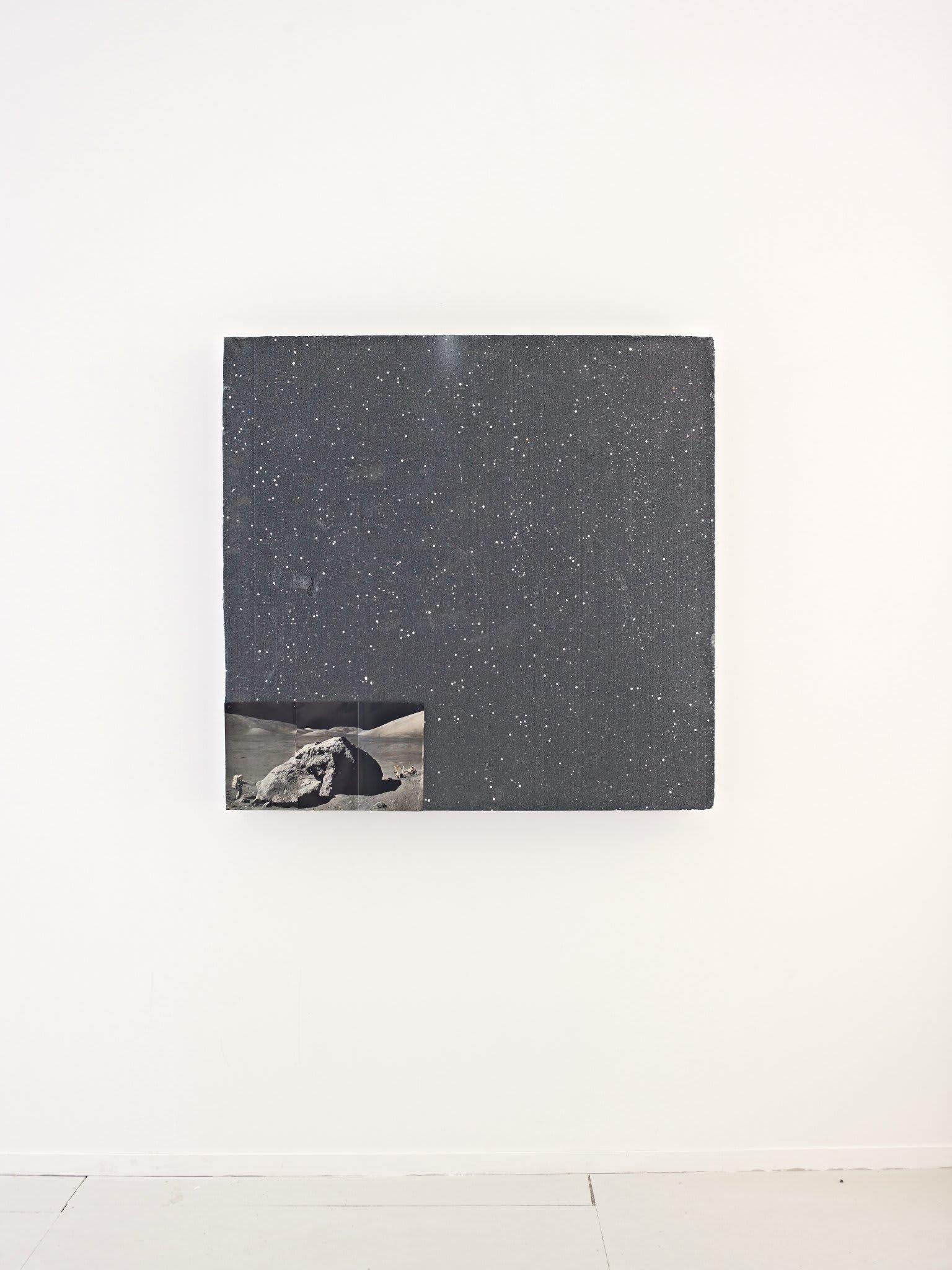 <span class=&#34;link fancybox-details-link&#34;><a href=&#34;/artists/16-paul-merrick/works/8249/&#34;>View Detail Page</a></span><div class=&#34;artist&#34;><strong>Paul Merrick</strong></div> <div class=&#34;title&#34;><em>Untitled (Moon Rock)</em>, 2013</div> <div class=&#34;medium&#34;>Polystyrene, found image, dressmaker pins, berry pins</div> <div class=&#34;dimensions&#34;>115 x 111 x 10 cm<br />45 1/4 x 43 3/4 x 4 in</div><div class=&#34;copyright_line&#34;>Copyright The Artist</div>