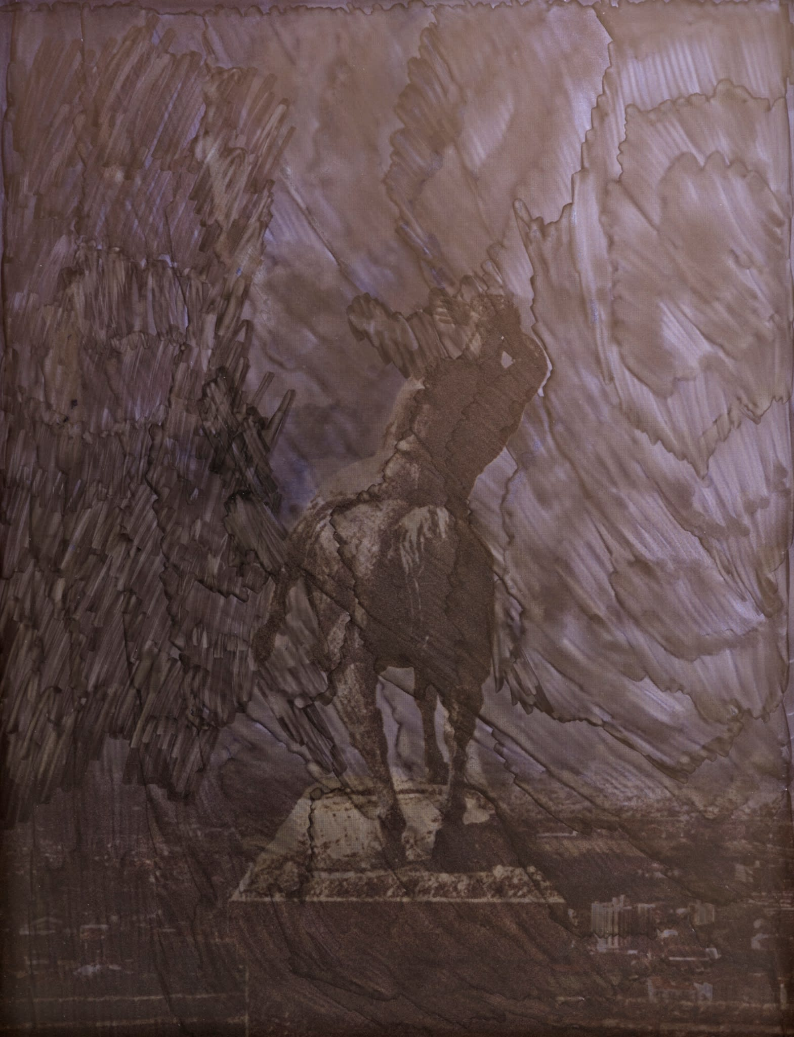 "<span class=""link fancybox-details-link""><a href=""/artists/30-cath-campbell/works/8473-cath-campbell-untitled-horse-2014/"">View Detail Page</a></span><div class=""artist""><strong>Cath Campbell</strong></div> <div class=""title""><em>Untitled (Horse)</em>, 2014</div> <div class=""medium"">Ink on UV print on aluminium</div> <div class=""dimensions"">44 x 34 cm<br />17 3/8 x 13 3/8 in</div><div class=""copyright_line"">Copyright The Artist</div>"