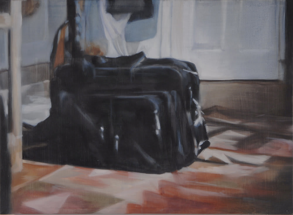 <span class=&#34;link fancybox-details-link&#34;><a href=&#34;/artists/14-rachel-lancaster/works/735/&#34;>View Detail Page</a></span><div class=&#34;artist&#34;><strong>Rachel Lancaster</strong></div> <div class=&#34;title&#34;><em>Suitcase</em>, 2007</div> <div class=&#34;medium&#34;>Oil on Canvas</div> <div class=&#34;dimensions&#34;>40 x 51 cms<br />15.76 x 20.09 inches</div><div class=&#34;copyright_line&#34;>Copyright The Artist</div>