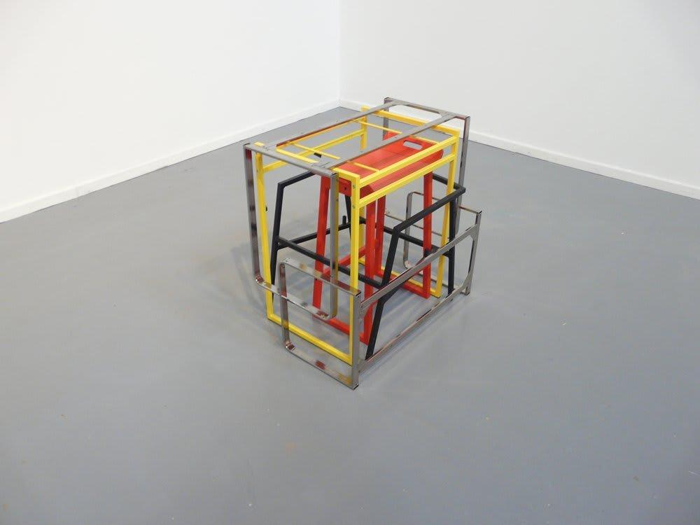 "<span class=""link fancybox-details-link""><a href=""/artists/27-paul-merrick/works/5303-paul-merrick-untitled-nest-2010/"">View Detail Page</a></span><div class=""artist""><strong>Paul Merrick</strong></div> <div class=""title""><em>Untitled (Nest)</em>, 2010</div> <div class=""medium"">Found furniture frames</div> <div class=""dimensions"">80 x 60 x 77 cm<br />31 1/2 x 23 5/8 x 30 1/4 in</div><div class=""copyright_line"">Copyright The Artist</div>"