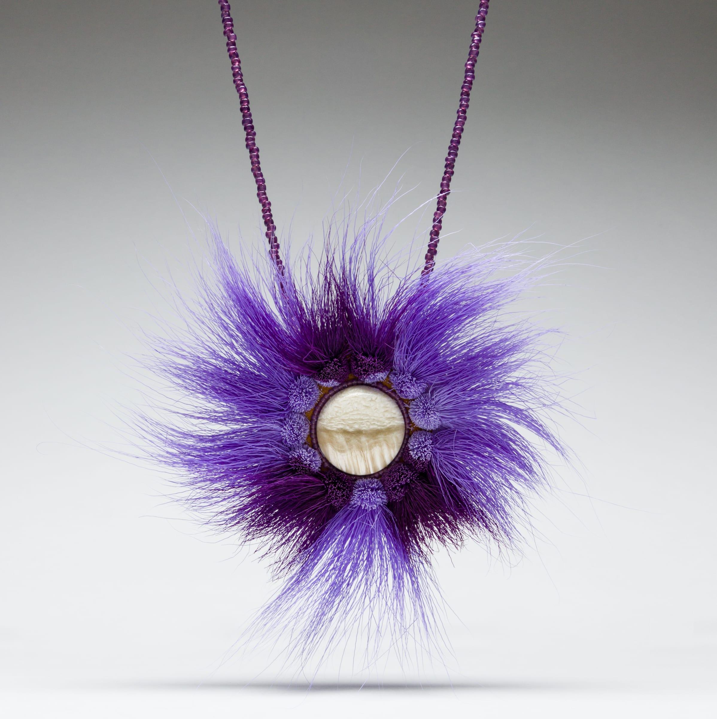 Purple tundra necklace