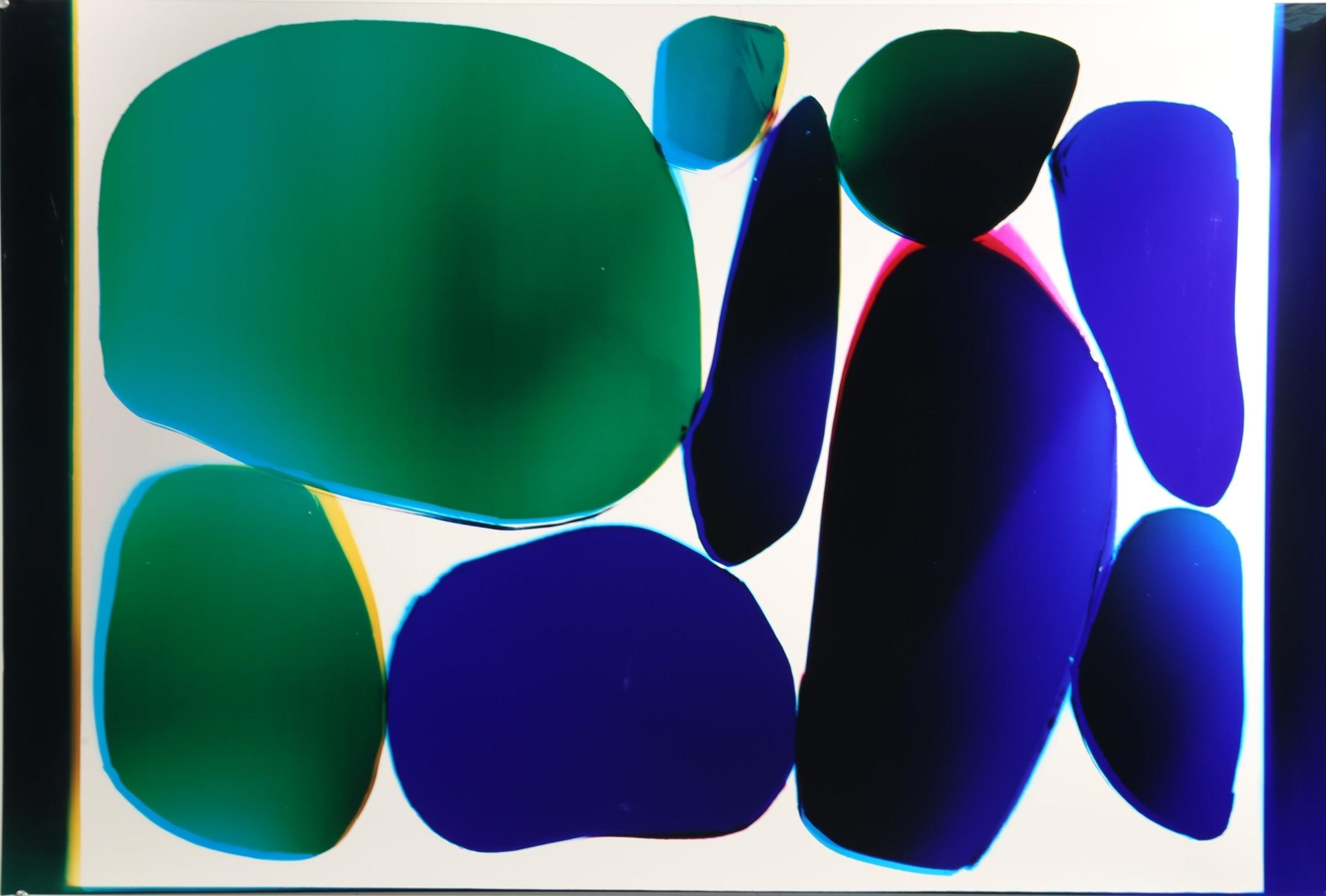 """<span class=""""link fancybox-details-link""""><a href=""""/exhibitions/8/works/image98/"""">View Detail Page</a></span><div class=""""artist""""><strong>Liz Nielsen</strong></div><div class=""""title""""><em>Cool Stones</em>, 2018</div><div class=""""signed_and_dated"""">Signed, titled and dated on artists label</div><div class=""""medium"""">Analogue Chromogenic Photogram on Fujiflex, Unique</div><div class=""""dimensions"""">76.2 x 114.3 cm</div>"""