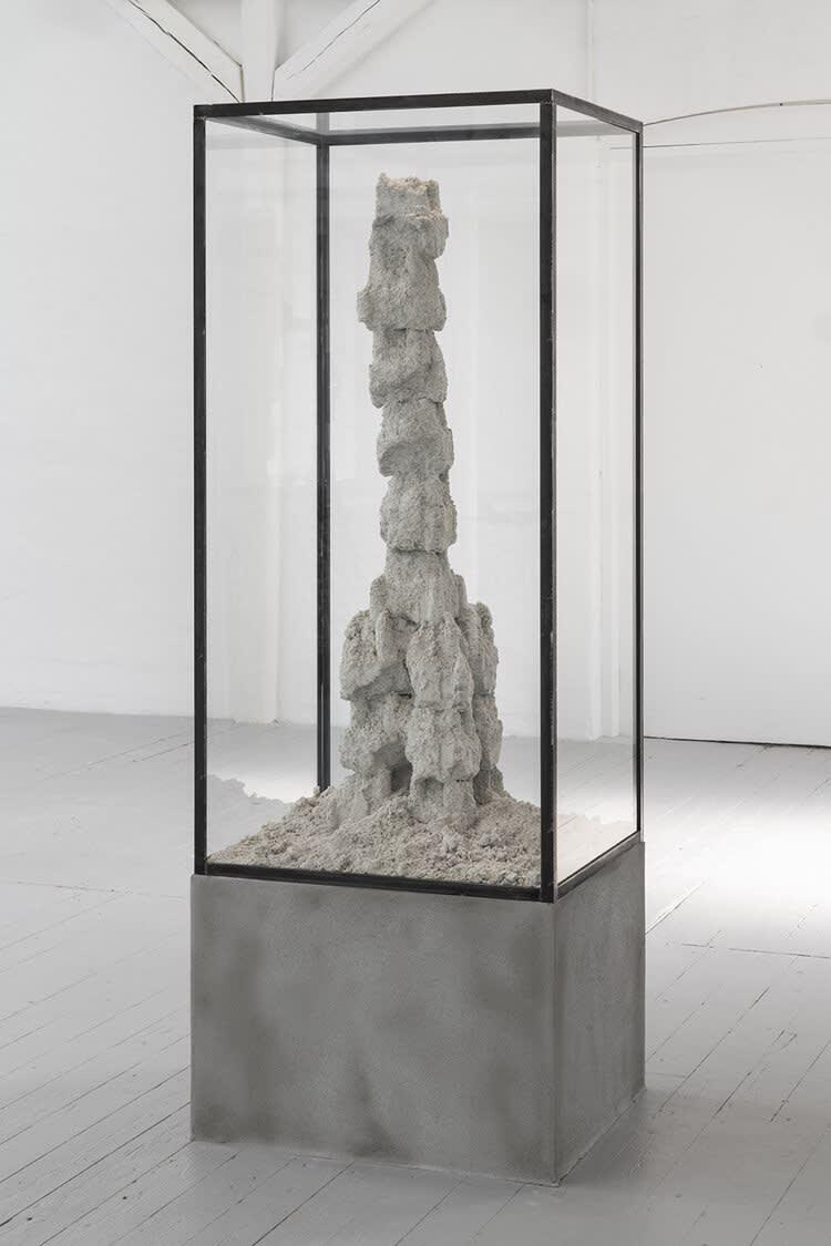 """<span class=""""link fancybox-details-link""""><a href=""""/exhibitions/17/works/image1368/"""">View Detail Page</a></span><p>Adam Jeppesen<br /><em>DK·ODE·CMT 97, 2·19</em>, 2019</p><p>Cement, sand and steel</p><p>138 x 70 x 60 cm</p><p>Unique</p>"""