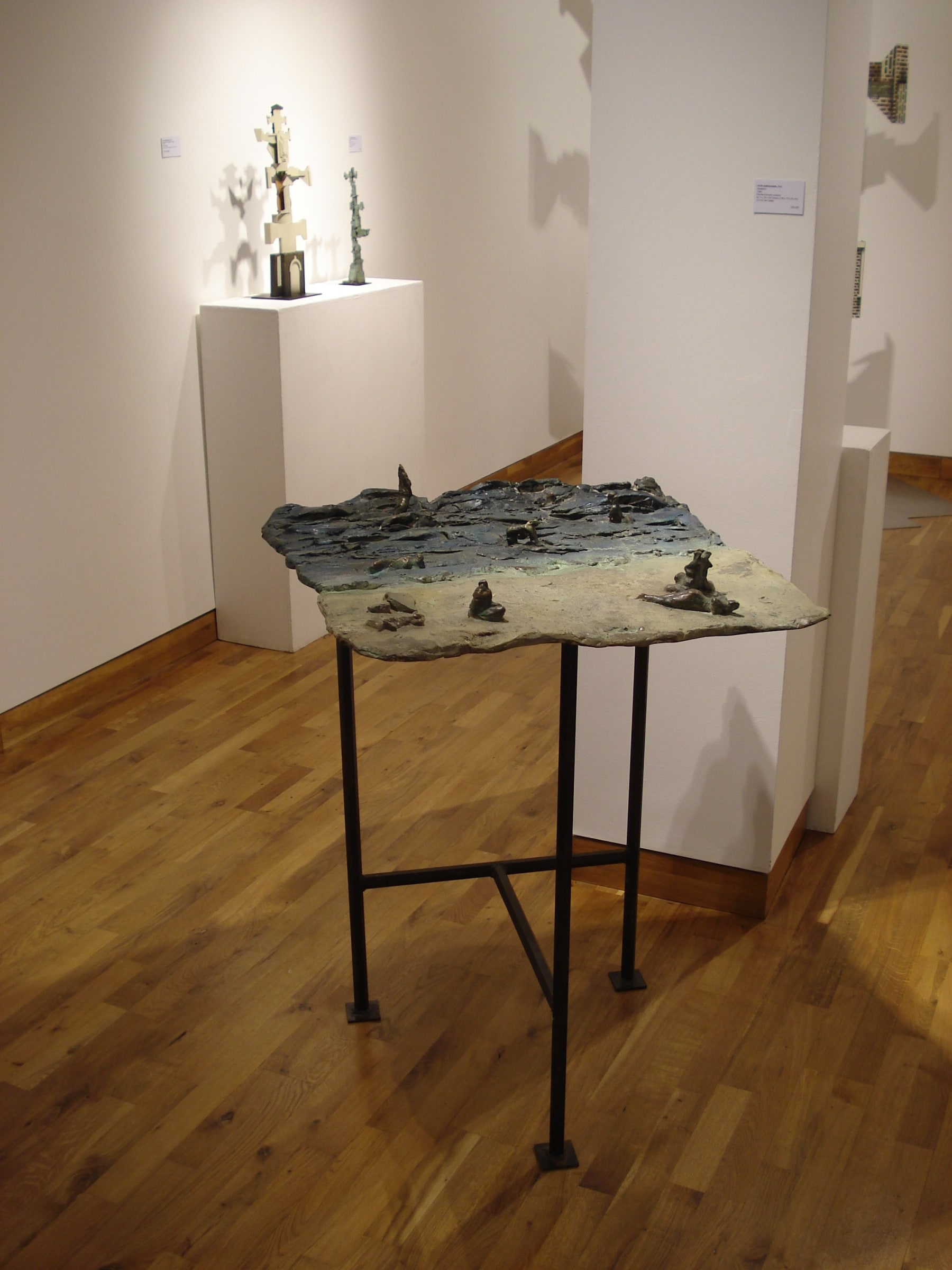 """<span class=""""link fancybox-details-link""""><a href=""""/exhibitions/103/works/image_standalone401/"""">View Detail Page</a></span><p>IVOR ABRAHAMS RA   PAINTED SCULPTURE   04 FEB - 21 FEB 2008   Installation View</p>"""
