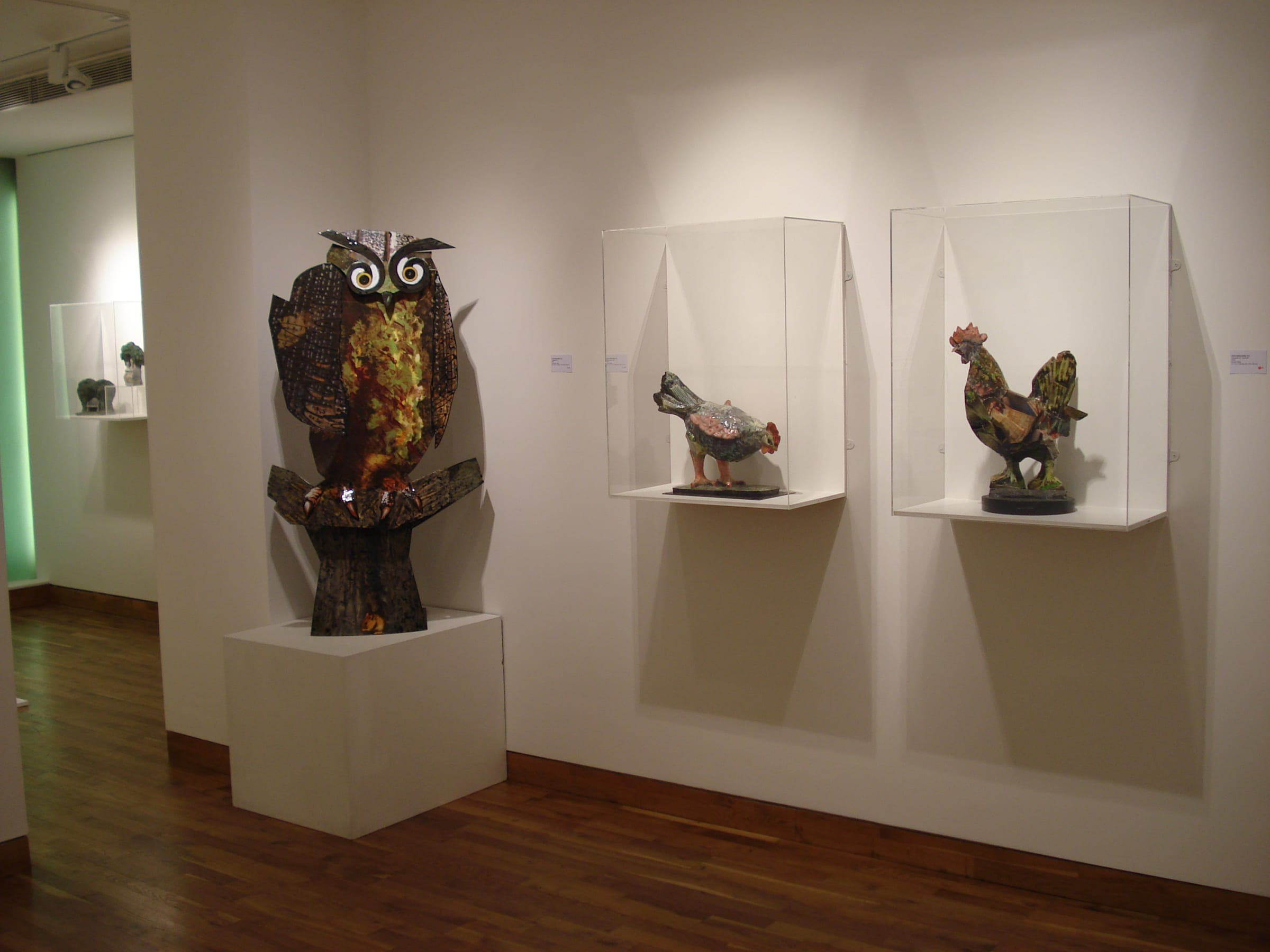 """<span class=""""link fancybox-details-link""""><a href=""""/exhibitions/103/works/image_standalone403/"""">View Detail Page</a></span><p>IVOR ABRAHAMS RA   PAINTED SCULPTURE   04 FEB - 21 FEB 2008   Installation View</p>"""
