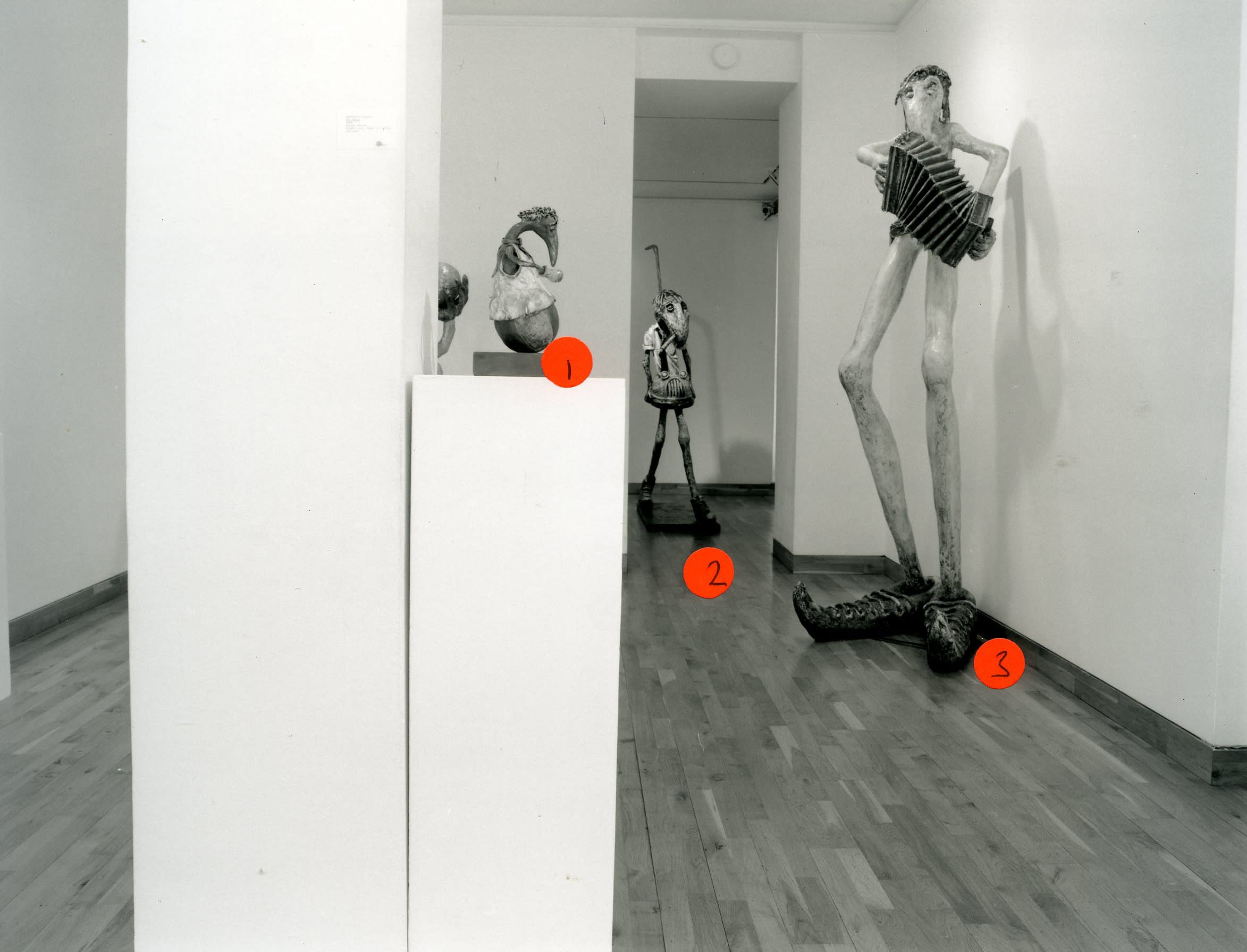 """<span class=""""link fancybox-details-link""""><a href=""""/exhibitions/162/works/image_standalone710/"""">View Detail Page</a></span><p>PATRICK O'REILLY   THE BROKEN WING   25 FEB - 01 APR 1999   Installation View</p>"""