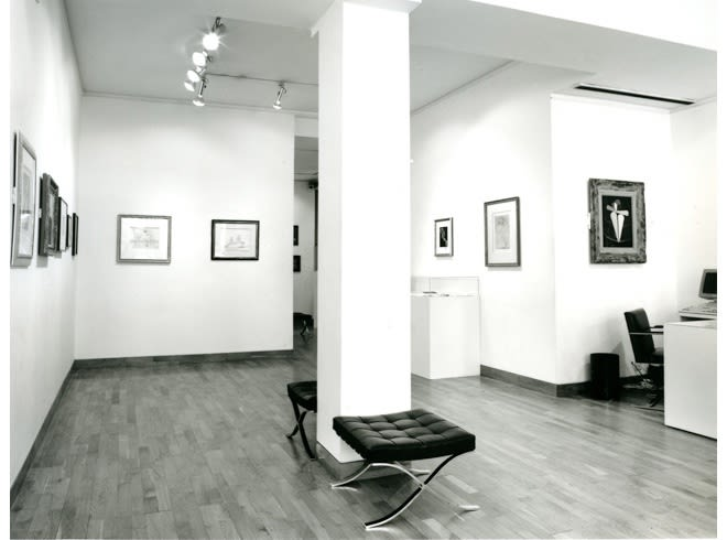 """<span class=""""link fancybox-details-link""""><a href=""""/exhibitions/217/works/image_standalone1062/"""">View Detail Page</a></span><p>MAN RAY AND ROLAND PENROSE   TWO OLD PALS   26 JUN - 31 AUG 1990   Installation View</p>"""