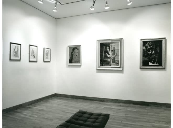 """<span class=""""link fancybox-details-link""""><a href=""""/exhibitions/217/works/image_standalone1065/"""">View Detail Page</a></span><p>MAN RAY AND ROLAND PENROSE   TWO OLD PALS   26 JUN - 31 AUG 1990   Installation View</p>"""