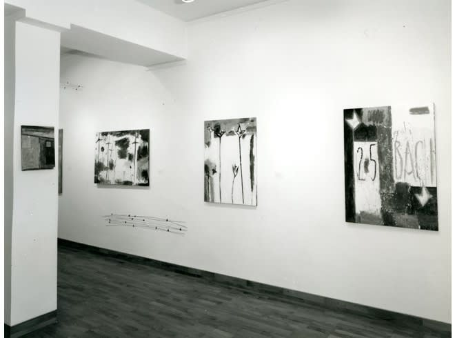 """<span class=""""link fancybox-details-link""""><a href=""""/exhibitions/255/works/image_standalone1317/"""">View Detail Page</a></span><p>NICOLA DE MARIA   24 JUN - 31 JUL 1985   Installation View</p>"""