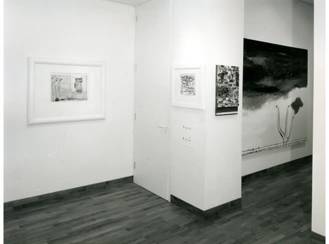 """<span class=""""link fancybox-details-link""""><a href=""""/exhibitions/255/works/image_standalone1320/"""">View Detail Page</a></span><p>NICOLA DE MARIA   24 JUN - 31 JUL 1985   Installation View</p>"""