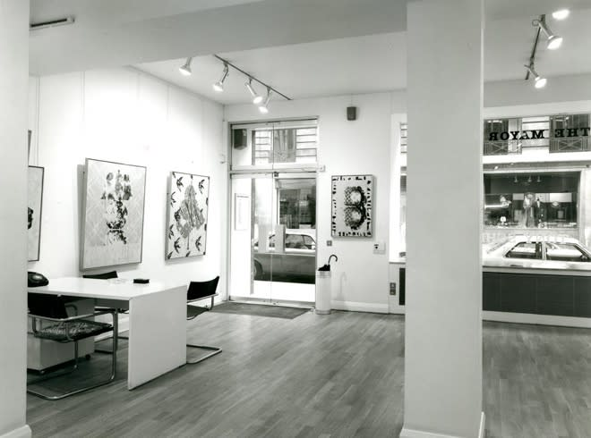 """<span class=""""link fancybox-details-link""""><a href=""""/exhibitions/283/works/image_standalone1441/"""">View Detail Page</a></span><p>TONY SCHERMAN   RECENT PAINTINGS   15 SEP - 10 OCT 1981   Installation View</p>"""