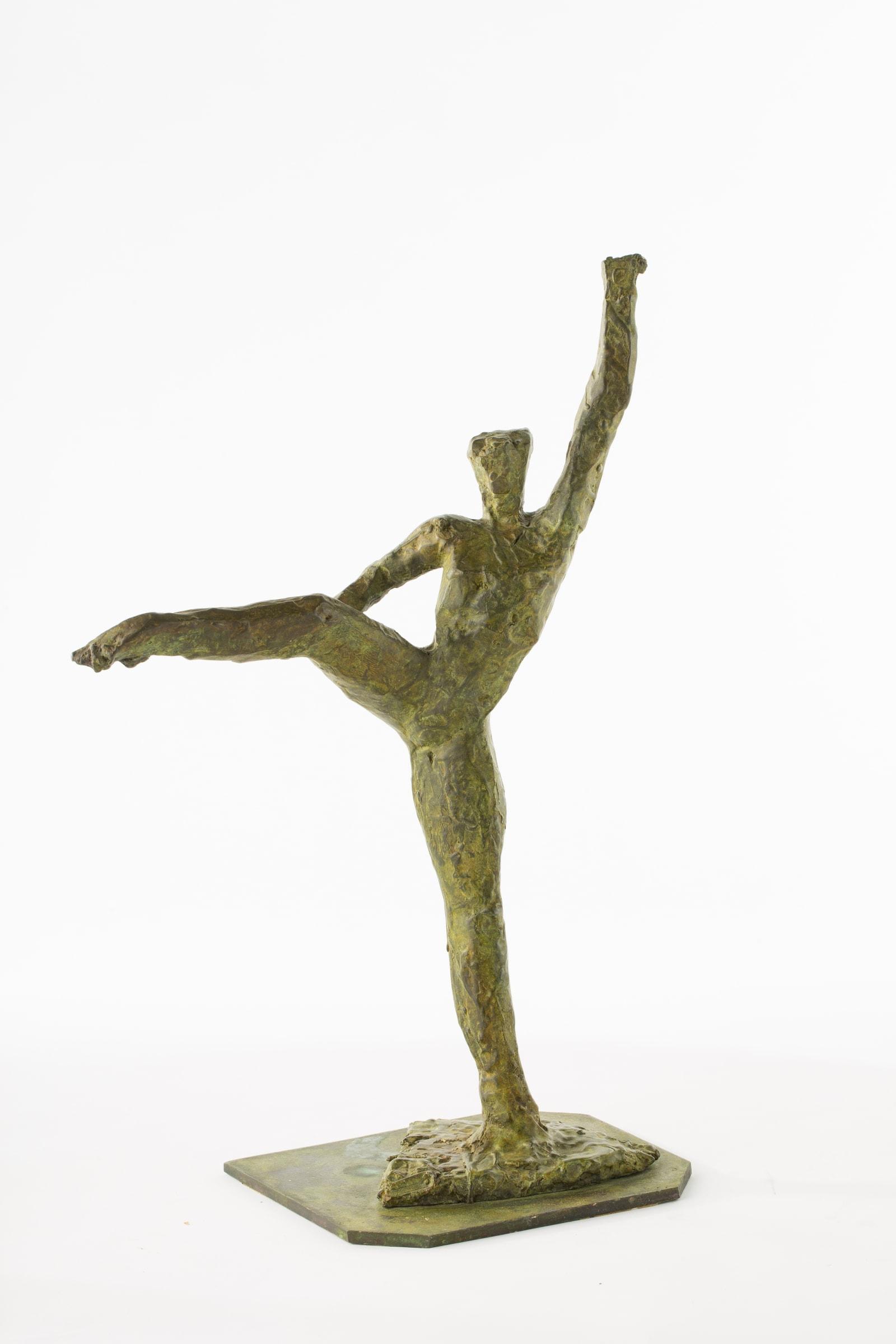 "<span class=""link fancybox-details-link""><a href=""/artists/78-ivor-abrahams/works/9822-ivor-abrahams-dancer-1987/"">View Detail Page</a></span><div class=""artist""><span class=""artist""><strong>IVOR ABRAHAMS</strong></span></div><div class=""title""><em>Dancer</em>, 1987</div><div class=""medium"">Bronze</div><div class=""dimensions"">46.5 x 30 x 17 cm<br /> 18 1/4 x 11 x 3/4 x 6 3/4 inches</div><div class=""price"">£5,000.00</div>"
