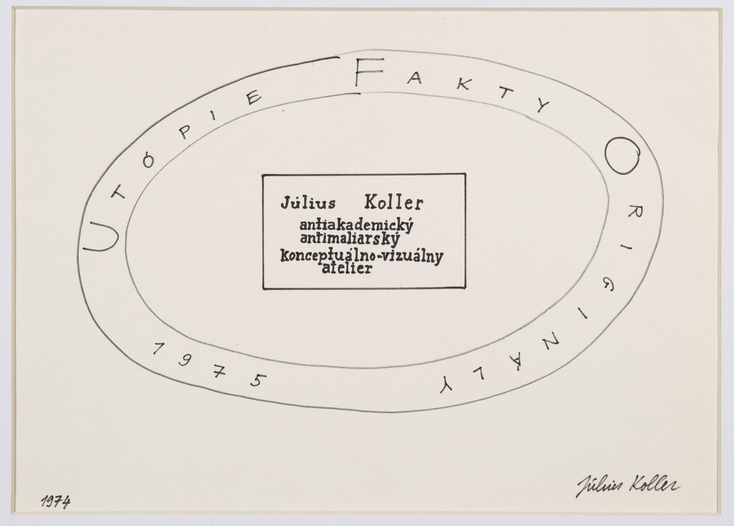 "<span class=""link fancybox-details-link""><a href=""/artists/155-julius-koller/works/10139-julius-koller-untitled-utopie-1975/"">View Detail Page</a></span><div class=""artist""><span class=""artist""><strong>JULIUS KOLLER</strong></span></div><div class=""title""><em>Untitled (Utopie)</em>, 1975</div><div class=""medium"">Pen on paper</div><div class=""dimensions"">24 x 31 cm<br /> 9 ½ x 12 ¼ in</div>"