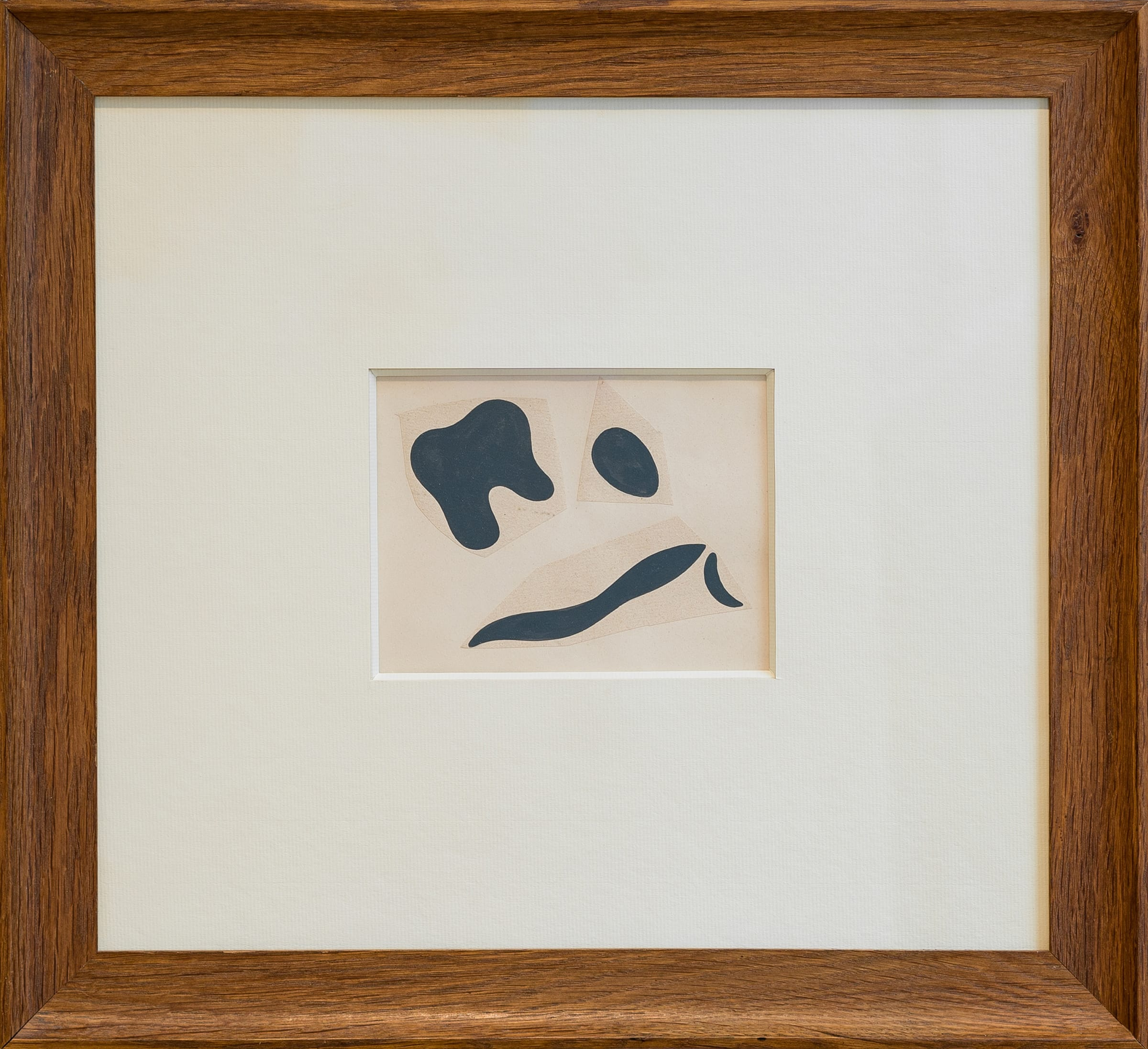 """<span class=""""link fancybox-details-link""""><a href=""""/artists/262-jean-arp/works/11191-jean-arp-untitled-c.-1934/"""">View Detail Page</a></span><div class=""""artist""""><span class=""""artist""""><strong>JEAN ARP</strong></span></div><div class=""""title""""><em>Untitled</em>, c. 1934</div><div class=""""signed_and_dated"""">Signed and stamped on reverse Succ Jean Arp (Succession Jean Arp)</div><div class=""""medium"""">Collage on paper</div><div class=""""dimensions"""">4 3/4 x 6 1/2 inches (12 x 16.5 cm)<br /> Frame: 18 3/4 x 16 3/4 inches (47.5 x 42.5 cm)</div>"""