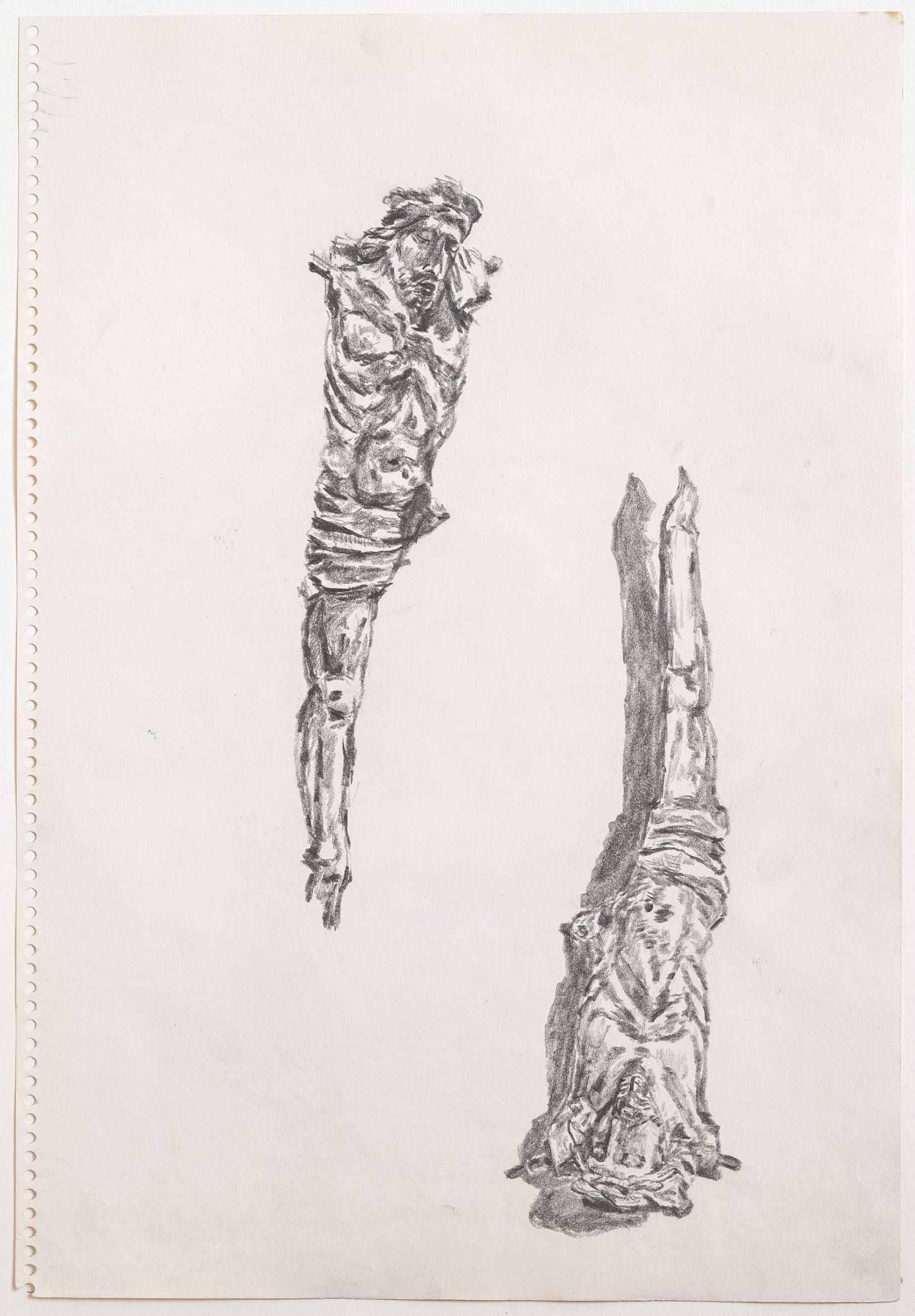 """<span class=""""link fancybox-details-link""""><a href=""""/artists/266-paul-thek/works/11205-paul-thek-untitled-crucifixions-1970/"""">View Detail Page</a></span><div class=""""artist""""><span class=""""artist""""><strong>PAUL THEK</strong></span></div><div class=""""title""""><em>Untitled (Crucifixions)</em>, 1970</div><div class=""""medium"""">Pencil on paper</div><div class=""""dimensions"""">34 x 23.5 cm<br /> 13 3/8 x 9 1/4 x inches</div>"""