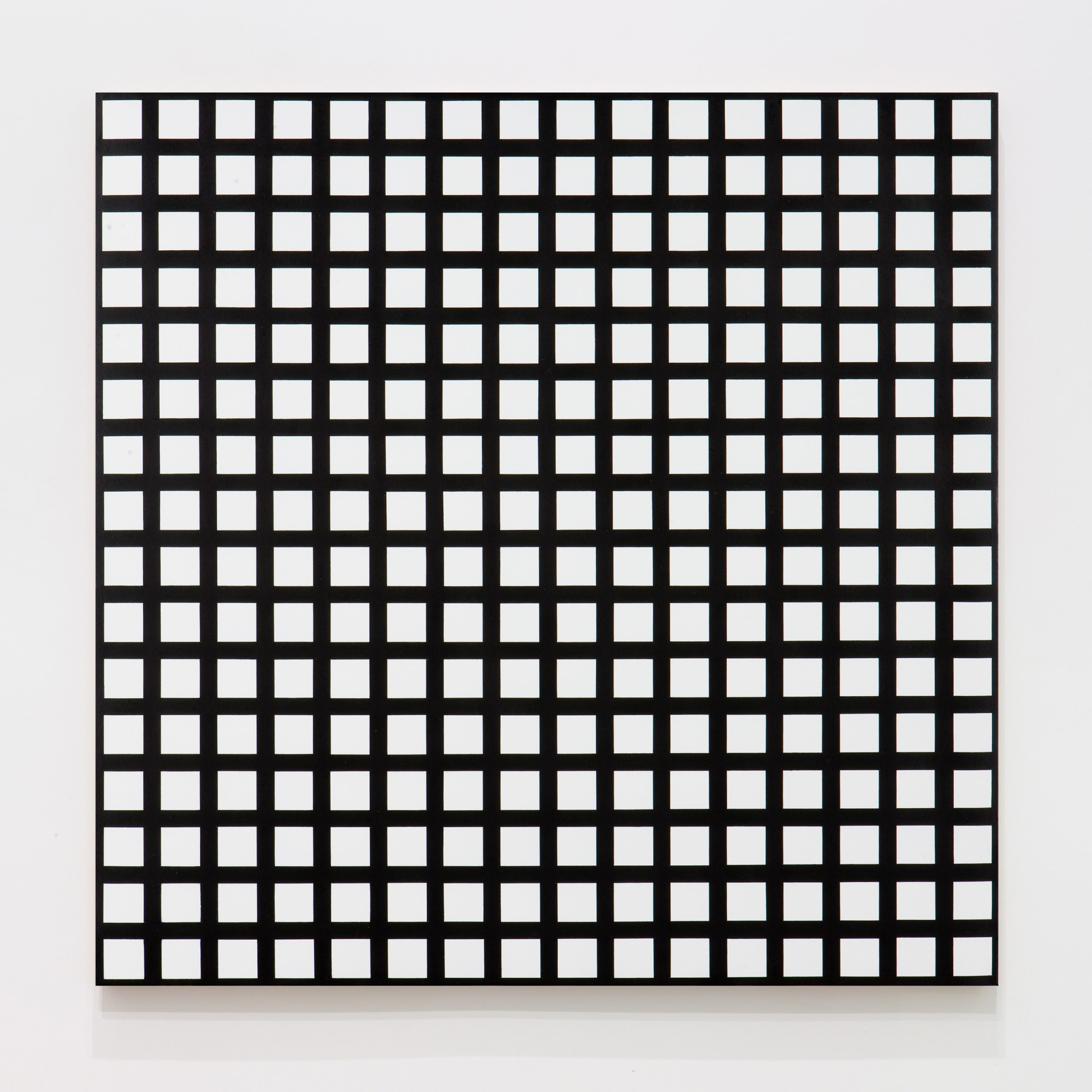 """<span class=""""link fancybox-details-link""""><a href=""""/artists/121-francois-morellet/works/10323-francois-morellet-trames-de-256-carres-reguliers-1972/"""">View Detail Page</a></span><div class=""""artist""""><span class=""""artist""""><strong>FRANCOIS MORELLET</strong></span></div><div class=""""title""""><em>Trames de 256 carrés réguliers</em>, 1972</div><div class=""""signed_and_dated"""">Signed, titled and dated with archive number on the reverse</div><div class=""""medium"""">Silkscreen on acrylic on board </div><div class=""""dimensions"""">80 x 80 cm<br /> 31 1/2 x 31 1/2 inches</div>"""