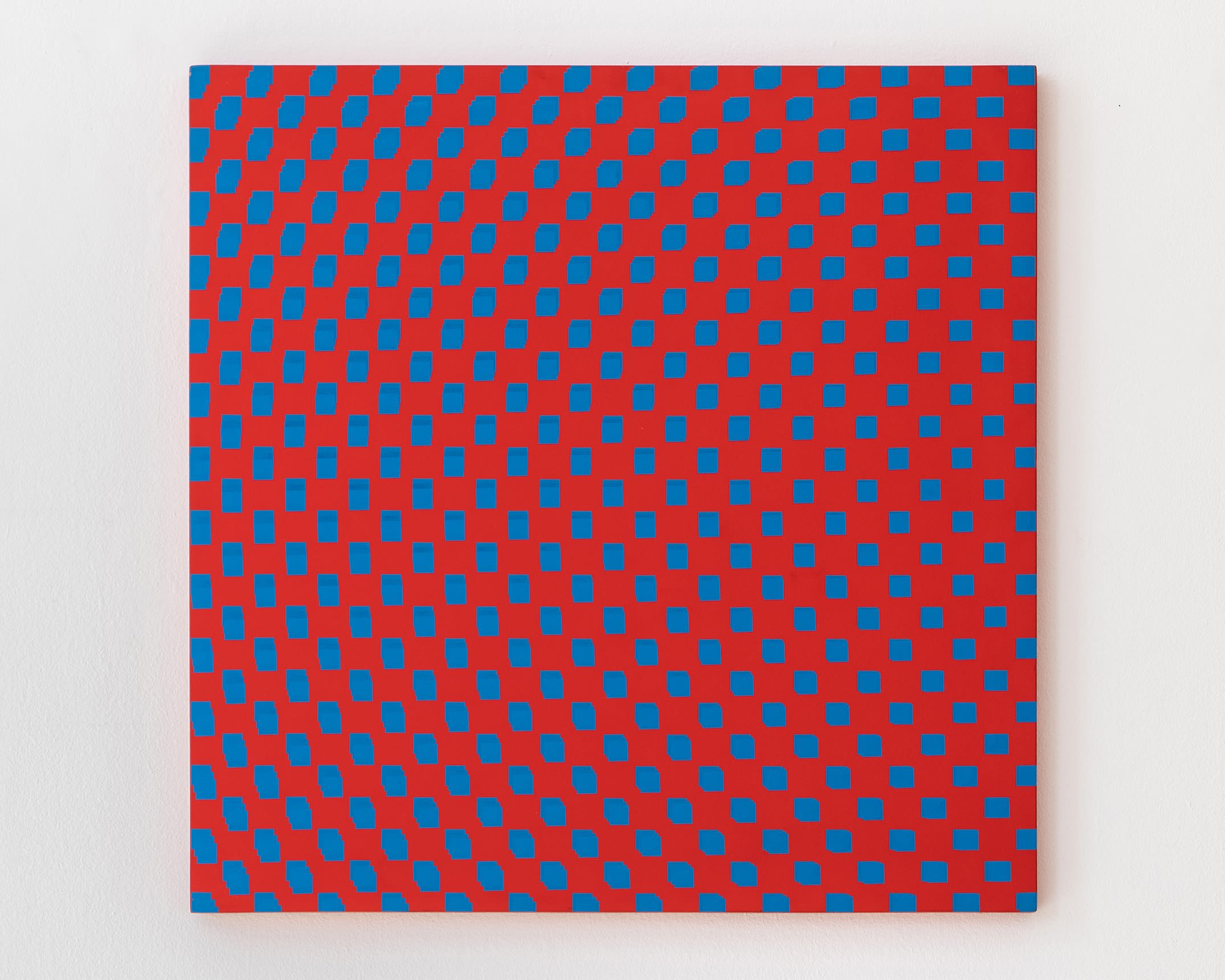"""<span class=""""link fancybox-details-link""""><a href=""""/artists/121-francois-morellet/works/9430-francois-morellet-3-trames-de-carres-reguliers-pivotees-sur-le-1970/"""">View Detail Page</a></span><div class=""""artist""""><span class=""""artist""""><strong>FRANCOIS MORELLET</strong></span></div><div class=""""title""""><em>3 trames de carrés réguliers pivotées sur le côté</em>, 1970</div><div class=""""signed_and_dated"""">Signed, titled and dated with archive number on the reverse</div><div class=""""medium"""">Silkscreen on board </div><div class=""""dimensions"""">80 x 80 cm<br /> 31 1/2 x 31 1/2 inches</div>"""