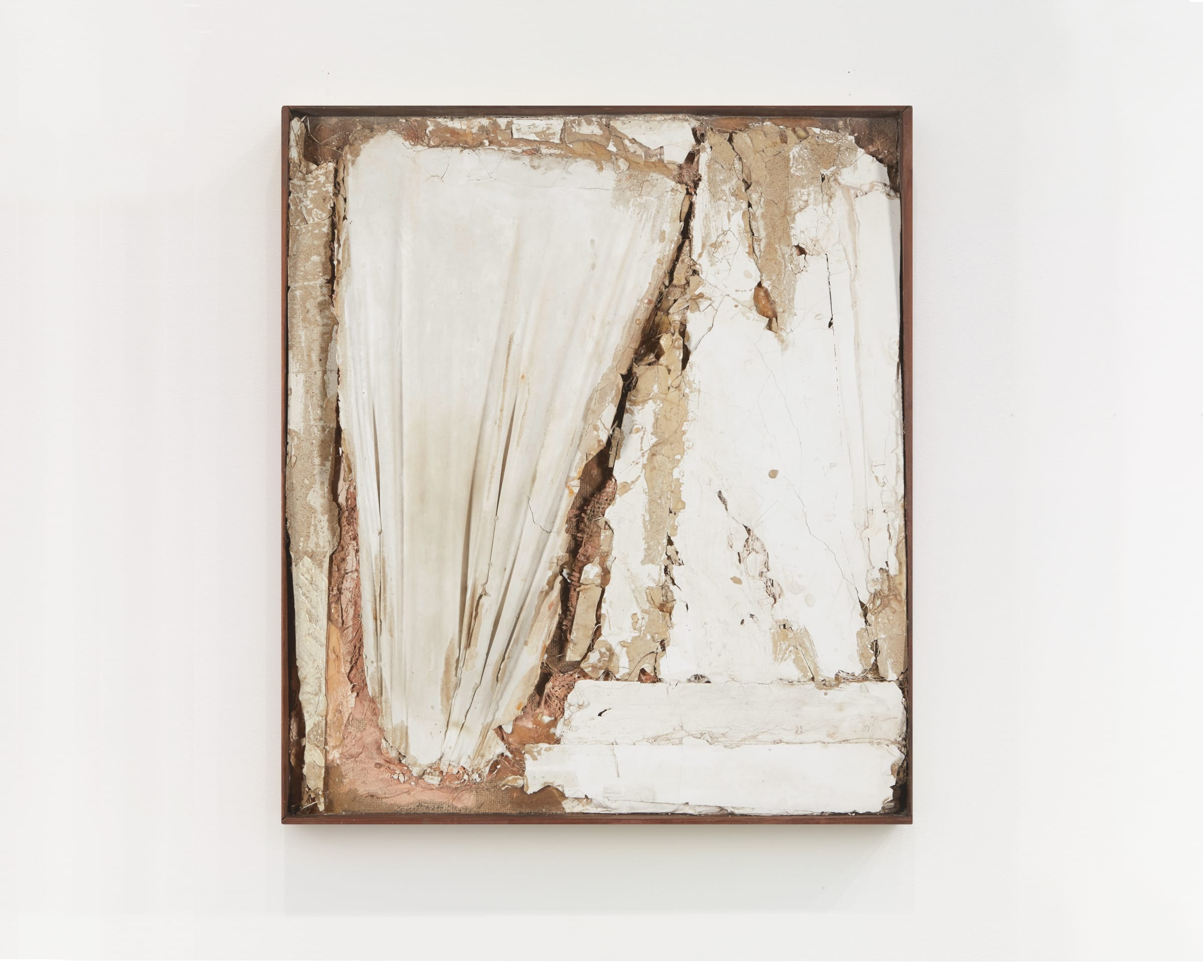 "<span class=""link fancybox-details-link""><a href=""/exhibitions/523/works/artworks_standalone10178/"">View Detail Page</a></span><div class=""medium"">Mixed media: Found materials bound with plaster with a wooden frame</div>