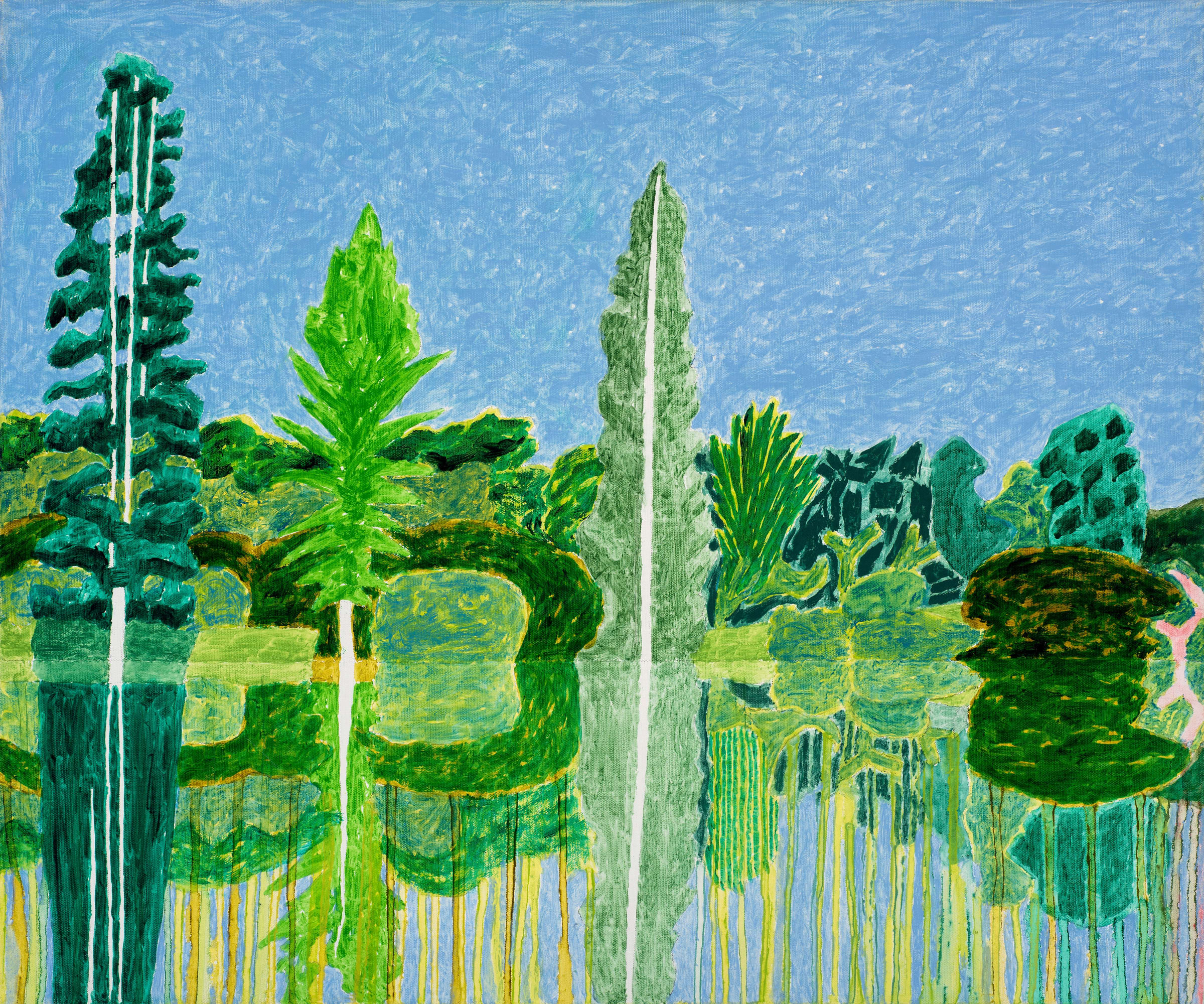 """<span class=""""link fancybox-details-link""""><a href=""""/exhibitions/12/works/image281/"""">View Detail Page</a></span><p><strong>Adrian Berg RA (1929-2011)</strong></p><p>Second Lake, Sheffield Park Garden, Sussex Weald, 24th & 27th August</p><p>2002, oil on canvas, 63.5 x 76.2cm</p>"""