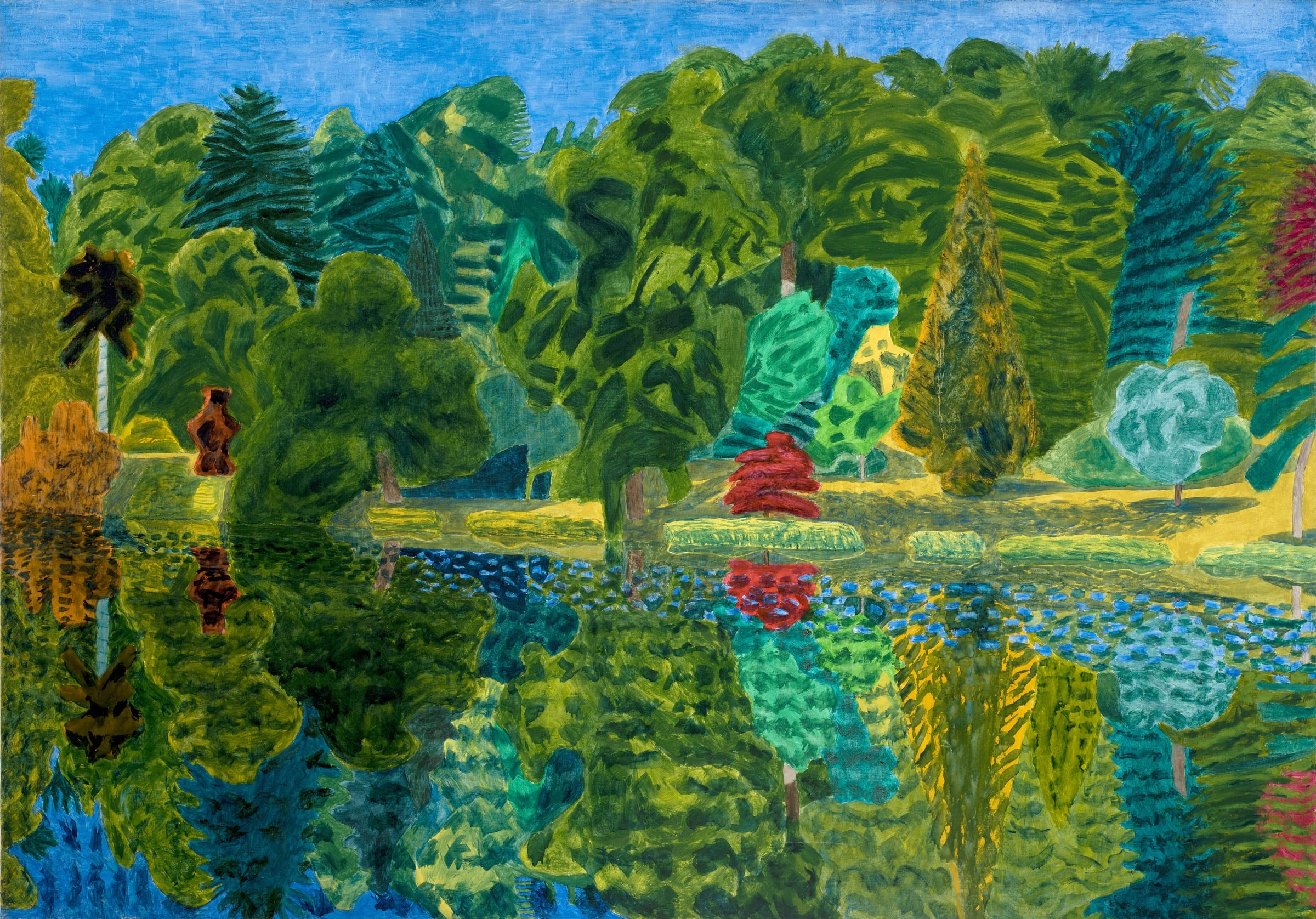 """<span class=""""link fancybox-details-link""""><a href=""""/exhibitions/12/works/image285/"""">View Detail Page</a></span><p><strong>Adrian Berg RA (1929-2011)</strong></p><p>Stourhead, 29th June</p><p>1993, oil on canvas, 132 x 188cm</p>"""