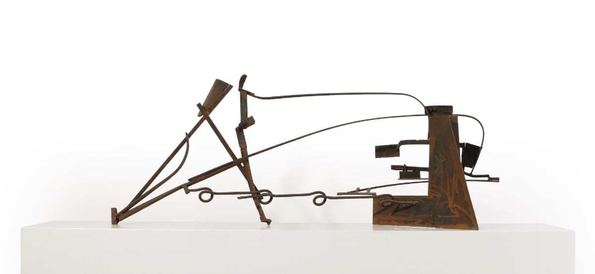 """<span class=""""link fancybox-details-link""""><a href=""""/exhibitions/7/works/image94/"""">View Detail Page</a></span><p><strong>Sir Anthony Caro</strong></p><p>1924-2013</p><p>Table PIece Z-8, 1978-9</p>"""