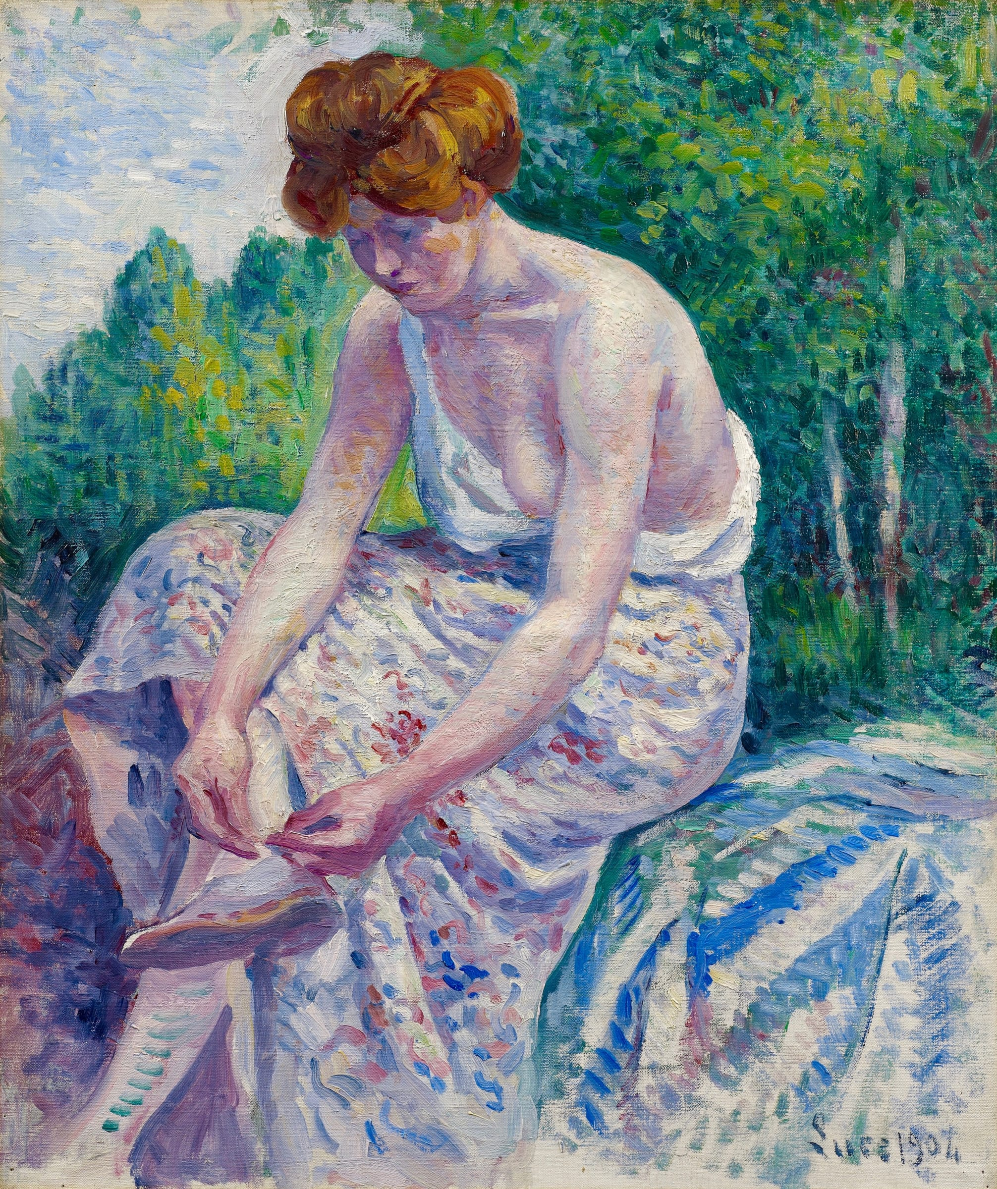 "<span class=""link fancybox-details-link""><a href=""/artists/61-maximilien-luce/works/9441-maximilien-luce-moulineux-jeune-femme-otant-sa-sandale-1904/"">View Detail Page</a></span><div class=""artist""><span class=""artist""><strong>Maximilien Luce</strong></span></div>
