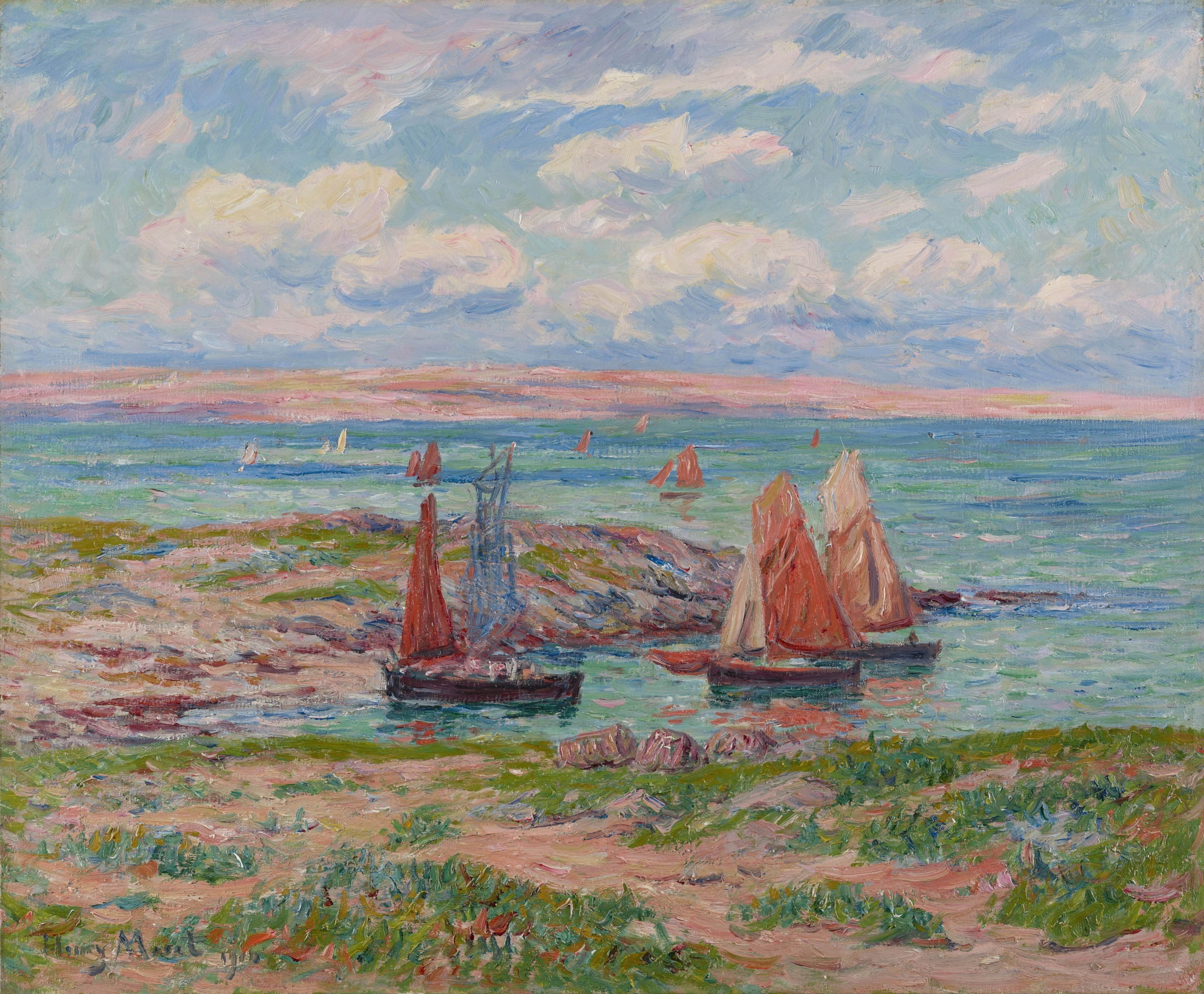 <span class=&#34;link fancybox-details-link&#34;><a href=&#34;/artists/69-henry-moret/works/9412-henry-moret-baie-d-audierne-finist-re-1910/&#34;>View Detail Page</a></span><div class=&#34;artist&#34;><span class=&#34;artist&#34;><strong>Henry Moret</strong></span></div>