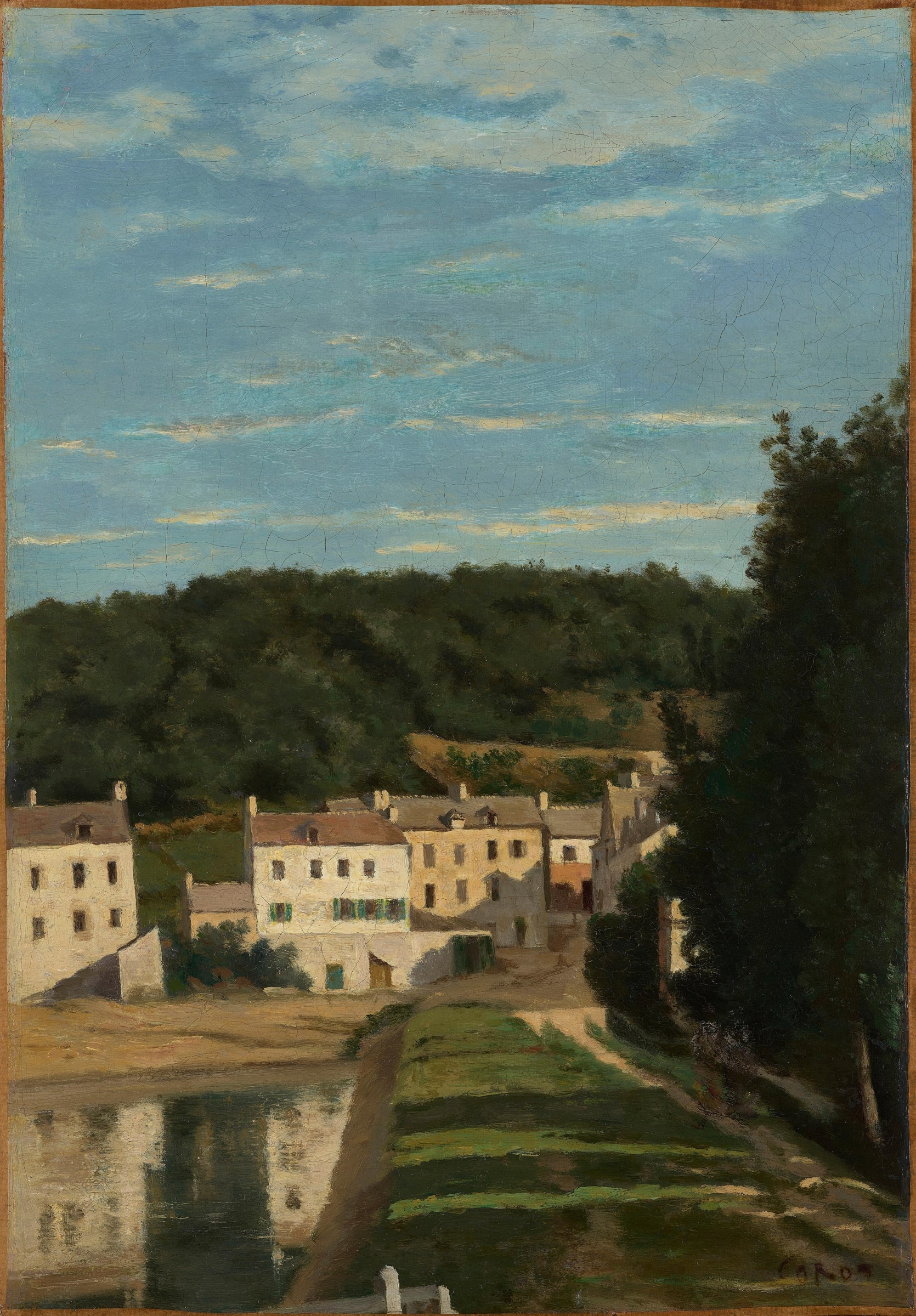 "<span class=""link fancybox-details-link""><a href=""/artists/30-jean-baptiste-camille-corot/works/9451-jean-baptiste-camille-corot-ville-davray.-le-chemin-de-corot-et-les-maisons-c.1840-1845/"">View Detail Page</a></span><div class=""artist""><span class=""artist""><strong>Jean Baptiste Camille Corot</strong></span></div>