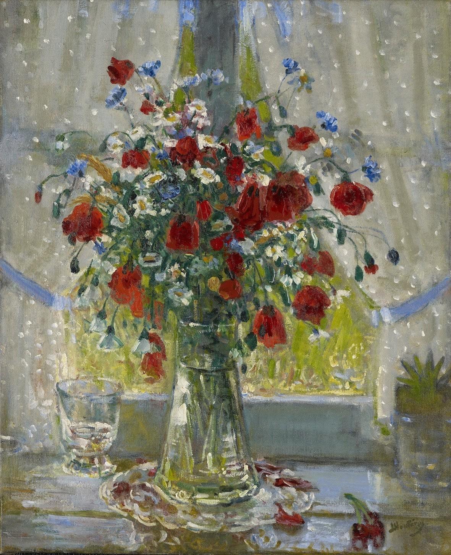 <span class=&#34;link fancybox-details-link&#34;><a href=&#34;/artists/68-pierre-eugne-montezin/works/9410-pierre-eug-ne-montezin-bouquet-de-fleurs-champ-tres-et-coquelicots-devant-la/&#34;>View Detail Page</a></span><div class=&#34;artist&#34;><span class=&#34;artist&#34;><strong>Pierre-Eugène Montezin</strong></span></div><div class=&#34;title&#34;><em>Bouquet de fleurs champêtres et coquelicots devant la fenêtre</em></div><div class=&#34;signed_and_dated&#34;>Signed lower left Montezin Inscribed on the reverse La fenêtre</div><div class=&#34;medium&#34;>Oil on canvas</div><div class=&#34;dimensions&#34;>73 x 60 cm<br /> 28 ¾ x 23 5/8 inches<br /> </div>