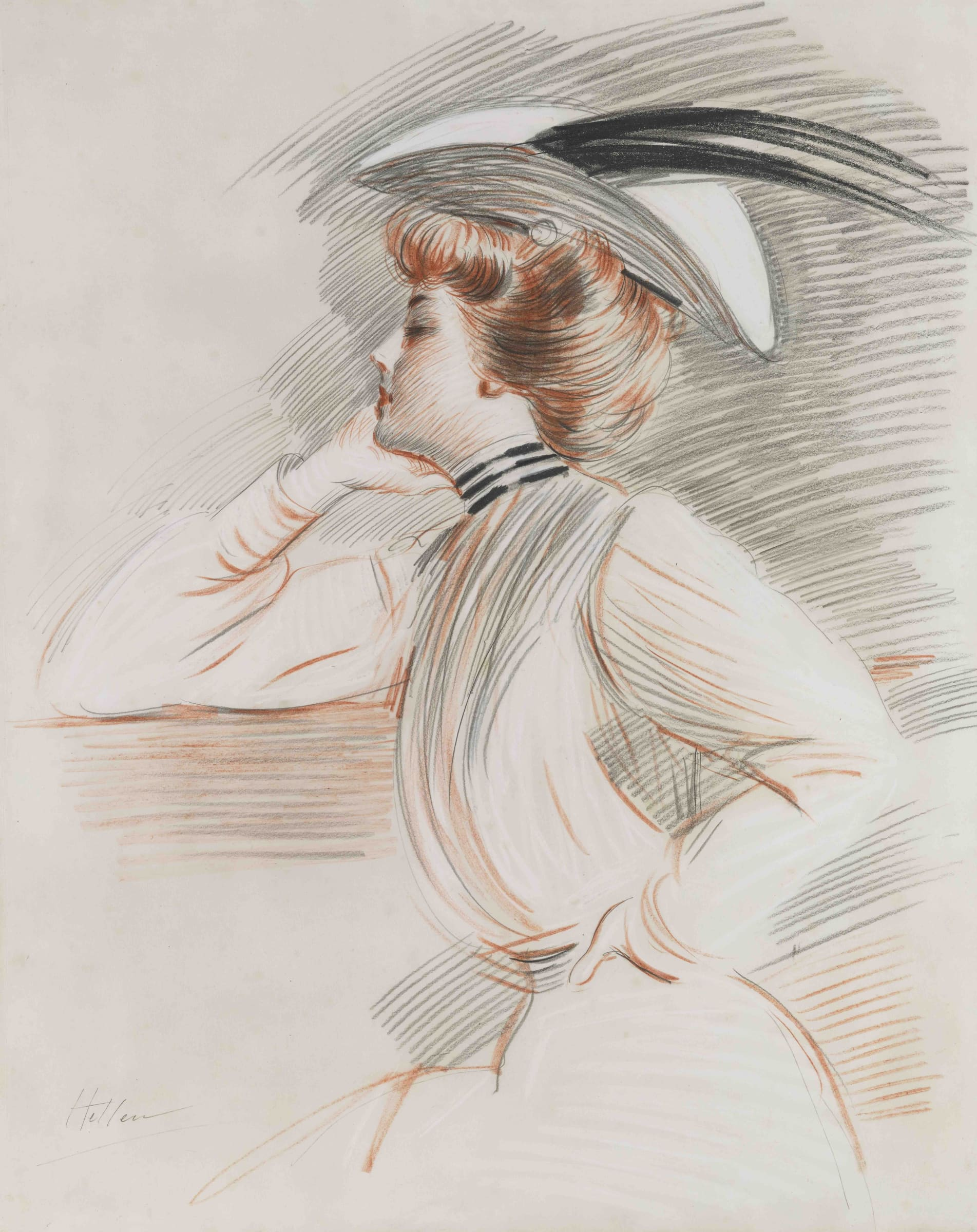 <span class=&#34;link fancybox-details-link&#34;><a href=&#34;/artists/50-paul-csar-helleu/works/9394-paul-c-sar-helleu-portrait-d-emily-stuart-taylor/&#34;>View Detail Page</a></span><div class=&#34;artist&#34;><span class=&#34;artist&#34;><strong>Paul César Helleu</strong></span></div><div class=&#34;title&#34;><em>Portrait d'Emily Stuart Taylor</em></div><div class=&#34;signed_and_dated&#34;>Signed lower left</div><div class=&#34;medium&#34;>Red, black and white chalk on paper</div><div class=&#34;dimensions&#34;>74.8 x 59.8 cm<br /> 29 7/16 x 23 9/16 inches</div>