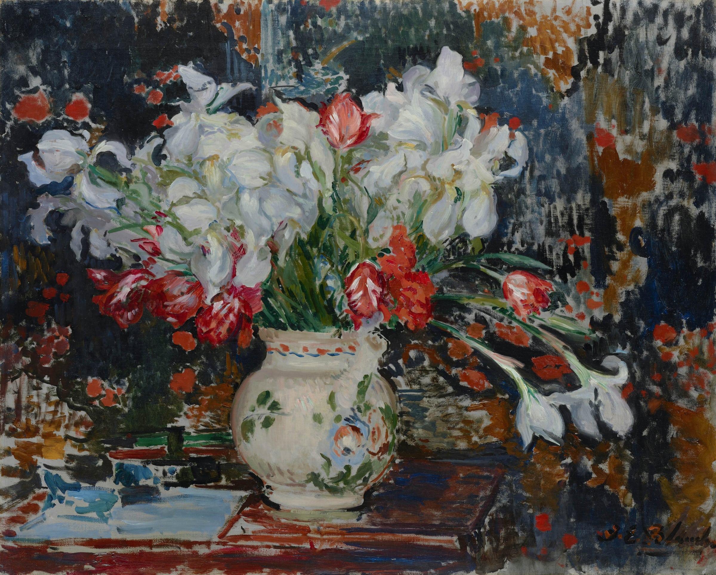 <span class=&#34;link fancybox-details-link&#34;><a href=&#34;/artists/27-jacques-emile-blanche/works/9375-jacques-emile-blanche-bouquet-d-iris-blanches-et-de-tulipes-rouges-c.1911/&#34;>View Detail Page</a></span><div class=&#34;artist&#34;><span class=&#34;artist&#34;><strong>Jacques-Emile Blanche</strong></span></div><div class=&#34;title&#34;><em> Bouquet d'iris blanches et de tulipes rouges</em>, c.1911</div><div class=&#34;medium&#34;>Oil on canvas</div><div class=&#34;dimensions&#34;>73.3 x 92.2 cm<br /> 28 7/8 x 36 5/16 inches</div>