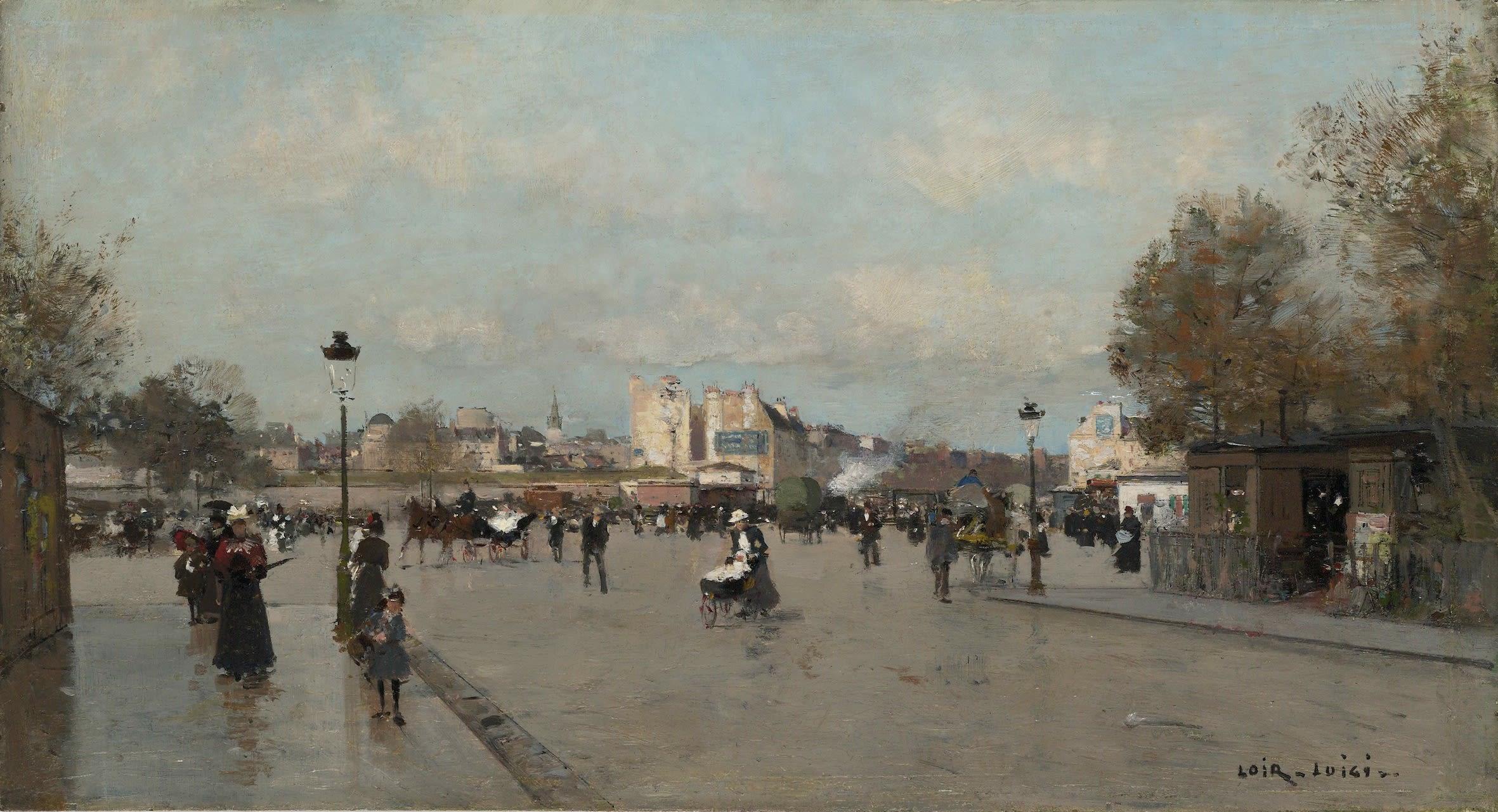 <span class=&#34;link fancybox-details-link&#34;><a href=&#34;/artists/59-luigi-loir/works/9401-luigi-loir-sur-le-boulevard-berthier-paris/&#34;>View Detail Page</a></span><div class=&#34;artist&#34;><span class=&#34;artist&#34;><strong>Luigi Loir</strong></span></div><div class=&#34;title&#34;><em>Sur le boulevard Berthier, Paris</em></div><div class=&#34;signed_and_dated&#34;>Signed lower right Loir Luigi</div><div class=&#34;medium&#34;>Oil on panel</div><div class=&#34;dimensions&#34;>22 x 40.4 cm<br /> 8 5/8 x 15 7/8 inches</div>