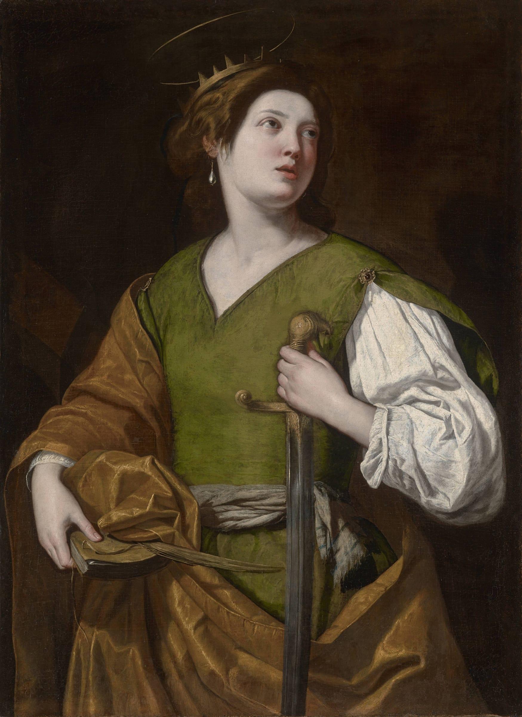 Artemisia Gentileschi (1593 – 1654) , Saint Catherine of