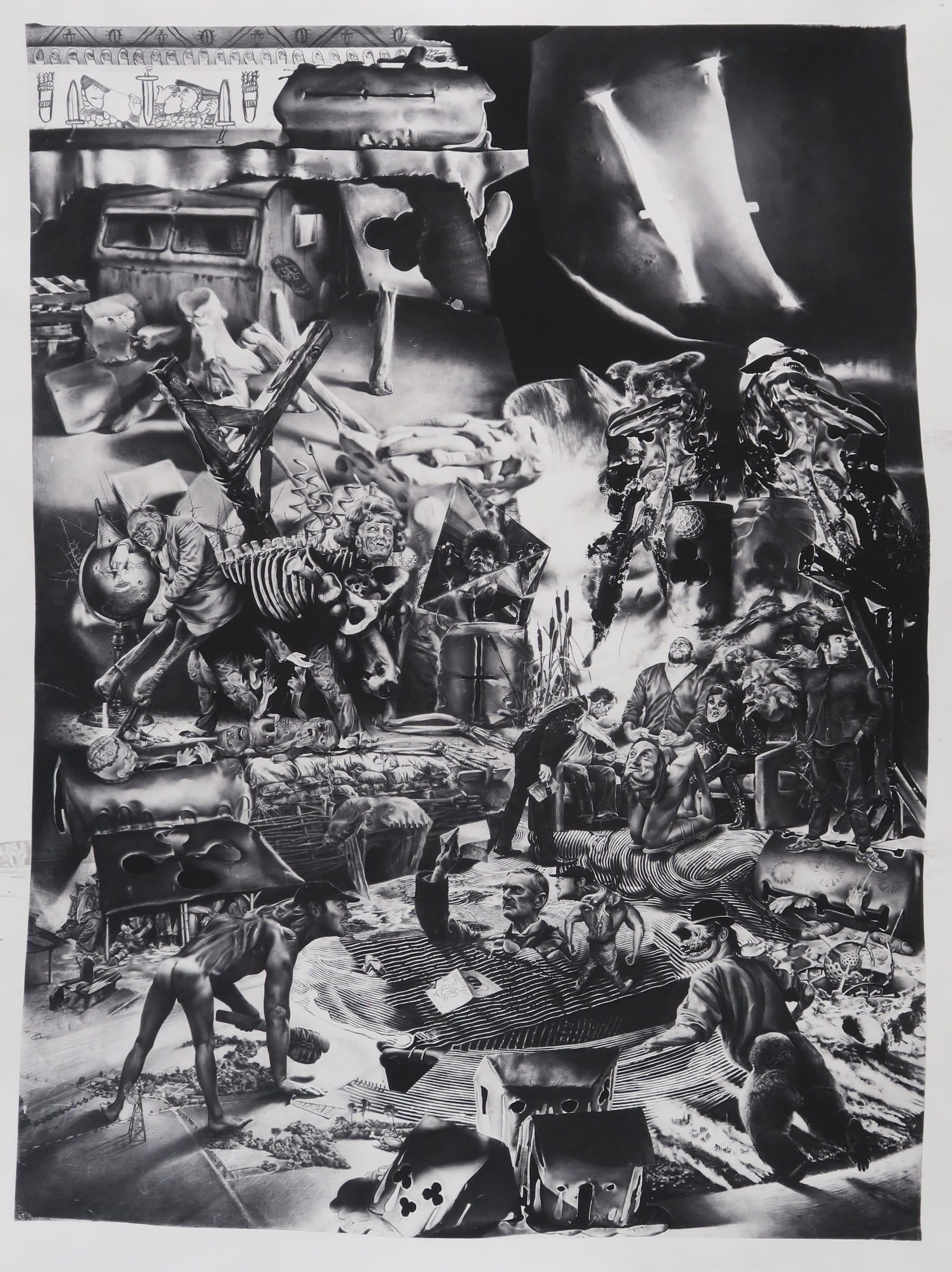<span class=&#34;link fancybox-details-link&#34;><a href=&#34;/exhibitions/98/works/image2075/&#34;>View Detail Page</a></span><div id=&#34;artwork-panel-details&#34; class=&#34;standard-artwork-details&#34;><div class=&#34;artist&#34;><strong>Robert McNally</strong></div><div class=&#34;title&#34;><em>&#194;nnus Horribilis</em>, 2016</div><div class=&#34;dimensions&#34;>90.4 x 68.4 x 20 cm<br /> 35 5/8 x 26 7/8 x 7 7/8 in<br /> Framed within a lightbox</div></div>