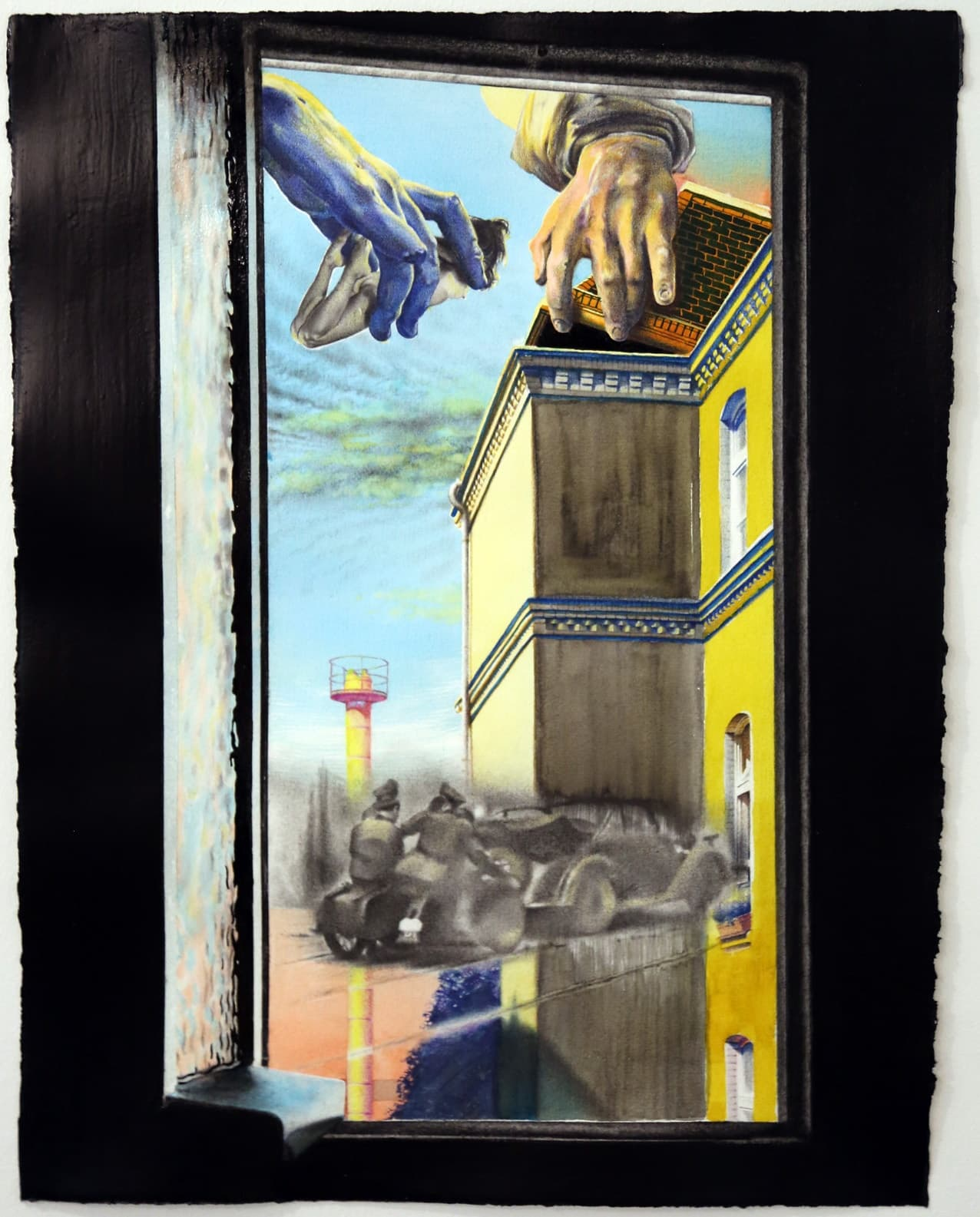 <span class=&#34;link fancybox-details-link&#34;><a href=&#34;/exhibitions/98/works/image2079/&#34;>View Detail Page</a></span><div id=&#34;artwork-panel-details&#34; class=&#34;standard-artwork-details&#34;><div class=&#34;artist&#34;><strong>Robert McNally</strong></div><div class=&#34;title&#34;><em>Poll tax. grab&#8217;em by the P</em>, 2017</div><div class=&#34;medium&#34;>Graphite pencil, watercolour, enamel paint & rubber flies on paper</div><div class=&#34;dimensions&#34;>68 x 53 cm<br /> 26 3/4 x 20 7/8 in</div></div>