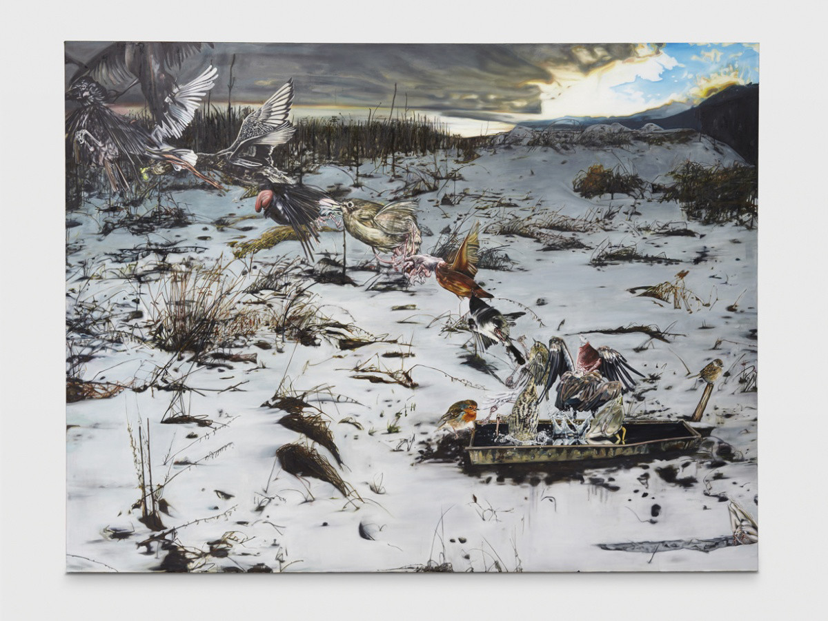 <span class=&#34;link fancybox-details-link&#34;><a href=&#34;/artists/57-lopold-rabus/works/5493/&#34;>View Detail Page</a></span><div class=&#34;artist&#34;><strong>Leopold RABUS</strong></div> <div class=&#34;title&#34;><em>Envol d'oiseaux</em>, 2009</div> <div class=&#34;medium&#34;>Oil on canvas - huile sur toile</div> <div class=&#34;dimensions&#34;>240 x 300 x 5 cm<br /> 94 1/2 x 118 1/8 x 2 in</div><div class=&#34;copyright_line&#34;>Copyright The Artist</div>