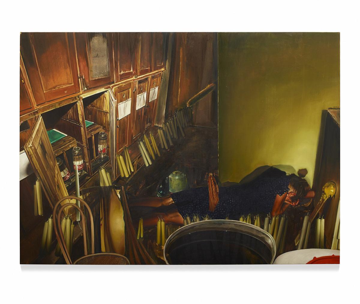 <span class=&#34;link fancybox-details-link&#34;><a href=&#34;/artists/57-lopold-rabus/works/6688/&#34;>View Detail Page</a></span><div class=&#34;artist&#34;><strong>Leopold RABUS</strong></div> <div class=&#34;title&#34;><em>Du dur au mou</em>, 2014</div> <div class=&#34;medium&#34;>Oil on canvas</div> <div class=&#34;dimensions&#34;>220 x 300 cm<br /> 86 5/8 x 118 1/8 in</div><div class=&#34;copyright_line&#34;>Copyright The Artist</div>