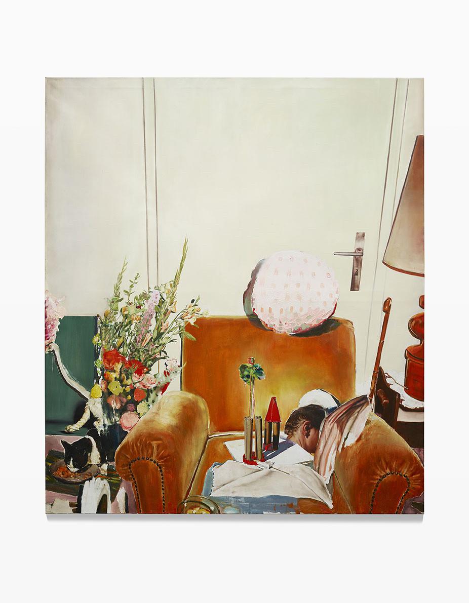 <span class=&#34;link fancybox-details-link&#34;><a href=&#34;/artists/57-lopold-rabus/works/8412/&#34;>View Detail Page</a></span><div class=&#34;artist&#34;><strong>Leopold RABUS</strong></div> <div class=&#34;title&#34;><em>Chats et fauteuils</em>, 2016</div> <div class=&#34;medium&#34;>oil on canvas/huile sur toile</div> <div class=&#34;dimensions&#34;>200 x 175 cm<br /> 78 3/4 x 68 7/8 in</div><div class=&#34;copyright_line&#34;>Copyright The Artist</div>