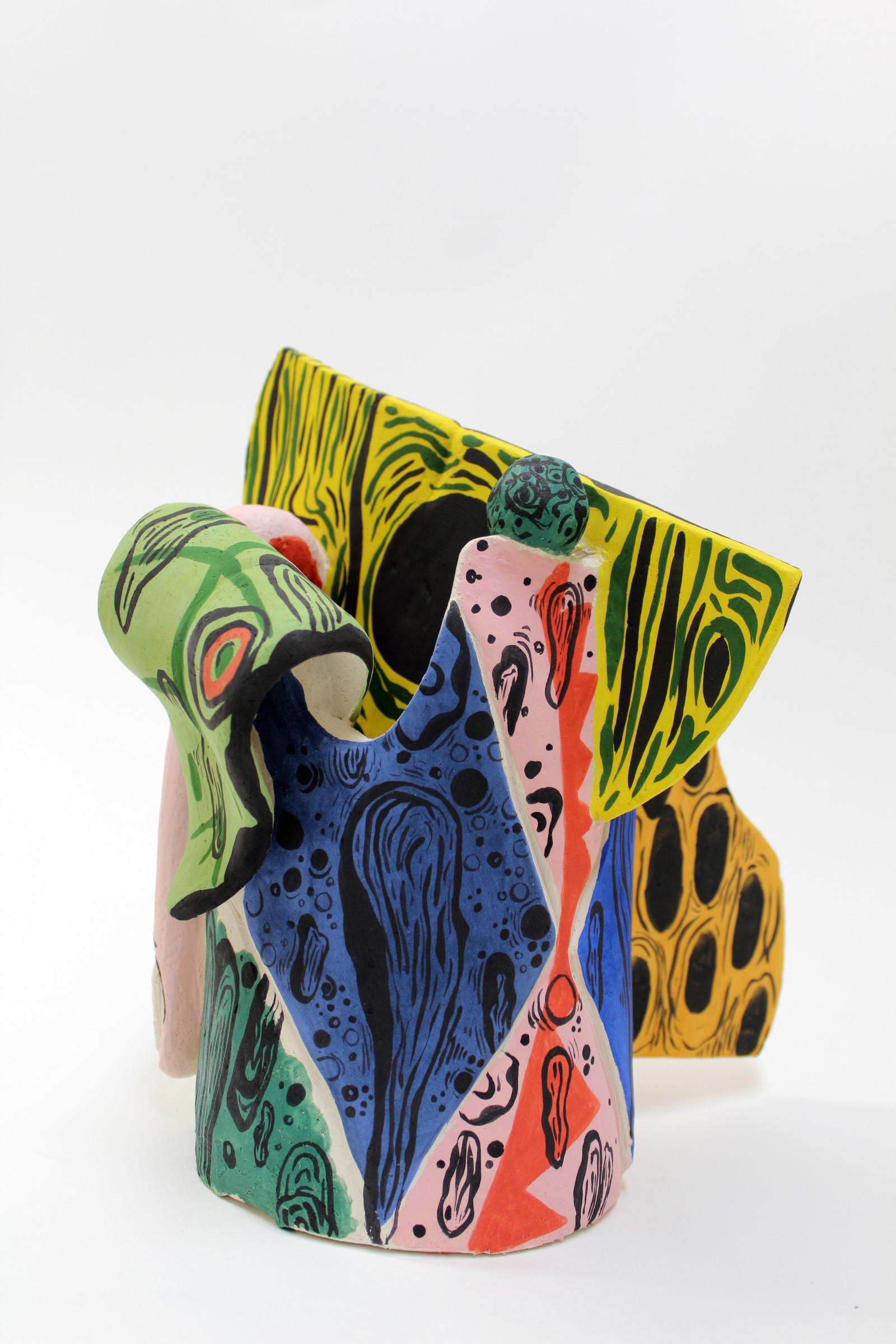 <span class=&#34;link fancybox-details-link&#34;><a href=&#34;/artists/51-florentine-%26-alexandre-lamarche-ovize/works/9566/&#34;>View Detail Page</a></span><div class=&#34;artist&#34;><strong>Florentine & Alexandre LAMARCHE-OVIZE</strong></div> <div class=&#34;title&#34;><em>Barbodoigts</em>, 2018</div> <div class=&#34;medium&#34;>Engobed ceramic</div> <div class=&#34;dimensions&#34;>35 x 20 x 20 cm<br /> 13 3/4 x 7 7/8 x 7 7/8 in</div><div class=&#34;copyright_line&#34;>Copyright The Artist</div>