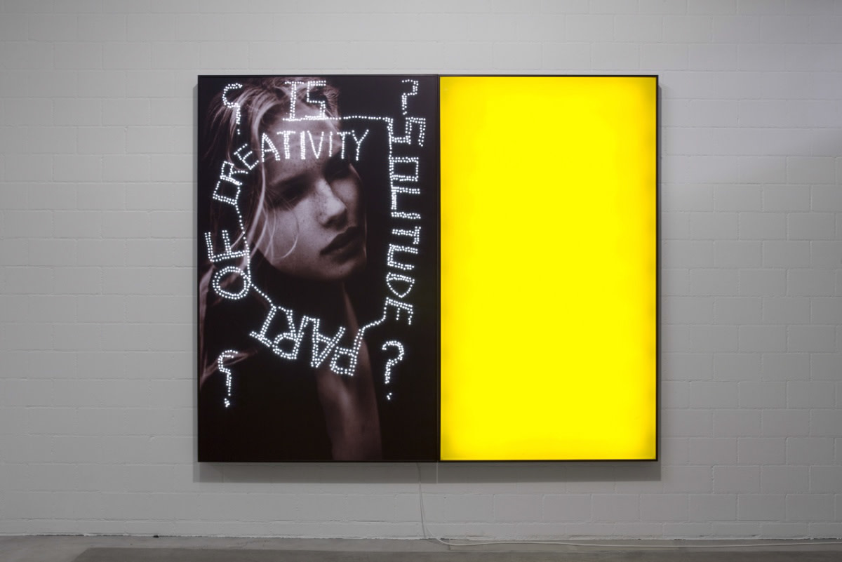 <span class=&#34;link fancybox-details-link&#34;><a href=&#34;/artists/31-daniele-buetti/works/3305/&#34;>View Detail Page</a></span><div class=&#34;artist&#34;><strong>Daniele BUETTI</strong></div> <div class=&#34;title&#34;><em>Is solitude part of creativity</em>, 2008</div> <div class=&#34;medium&#34;>perforated c-print on aluminium lighbox</div> <div class=&#34;dimensions&#34;>200 x 240 x 10 cm<br /> 78 3/4 x 94 1/2 x 4 in</div>