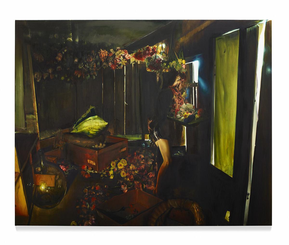 <span class=&#34;link fancybox-details-link&#34;><a href=&#34;/artists/57-lopold-rabus/works/6689/&#34;>View Detail Page</a></span><div class=&#34;artist&#34;><strong>Leopold RABUS</strong></div> <div class=&#34;title&#34;><em>Avec tiédeur</em>, 2014</div> <div class=&#34;medium&#34;>Oil on canvas</div> <div class=&#34;dimensions&#34;>240 x 300 cm<br /> 94 1/2 x 118 1/8 in</div><div class=&#34;copyright_line&#34;>Copyright The Artist</div>