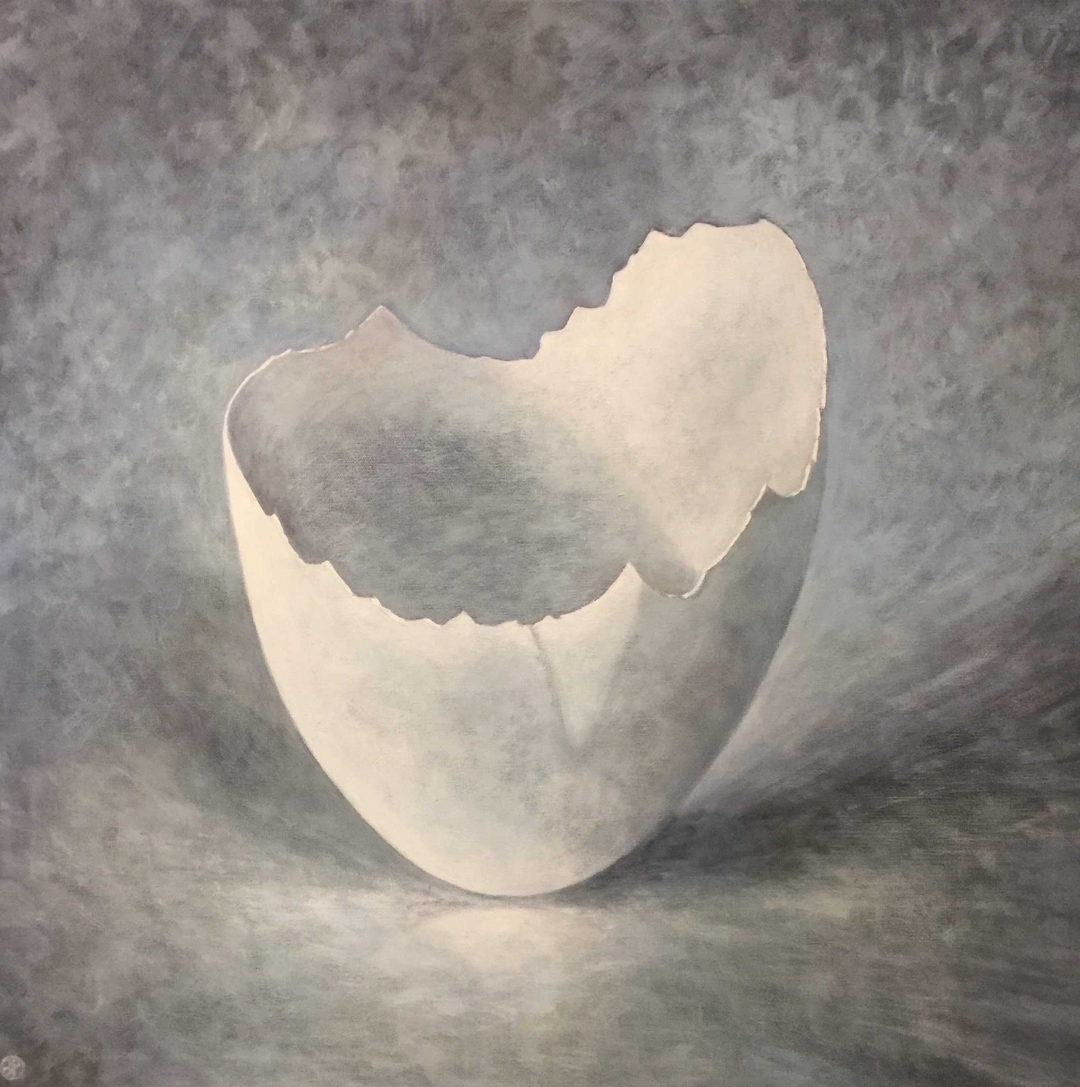 "<span class=""link fancybox-details-link""><a href=""/artists/34-joyce-pinch/works/1817-joyce-pinch-broken-white-egg/"">View Detail Page</a></span><div class=""artist""><strong>Joyce Pinch</strong></div> <div class=""title""><em>Broken White Egg</em></div> <div class=""medium"">Acrylic on Canvas</div> <div class=""dimensions"">77 x 77 cm</div><div class=""copyright_line"">Copyright The Artist</div>"