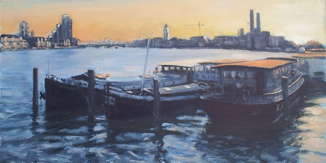 "<span class=""link fancybox-details-link""><a href=""/artists/181-ben-hughes/works/2902-ben-hughes-chelsea-houseboats/"">View Detail Page</a></span><div class=""artist""><strong>Ben Hughes</strong></div> <div class=""title""><em>Chelsea Houseboats</em></div> <div class=""medium"">Oil on Board</div> <div class=""dimensions"">20 x 40 cm </div>"