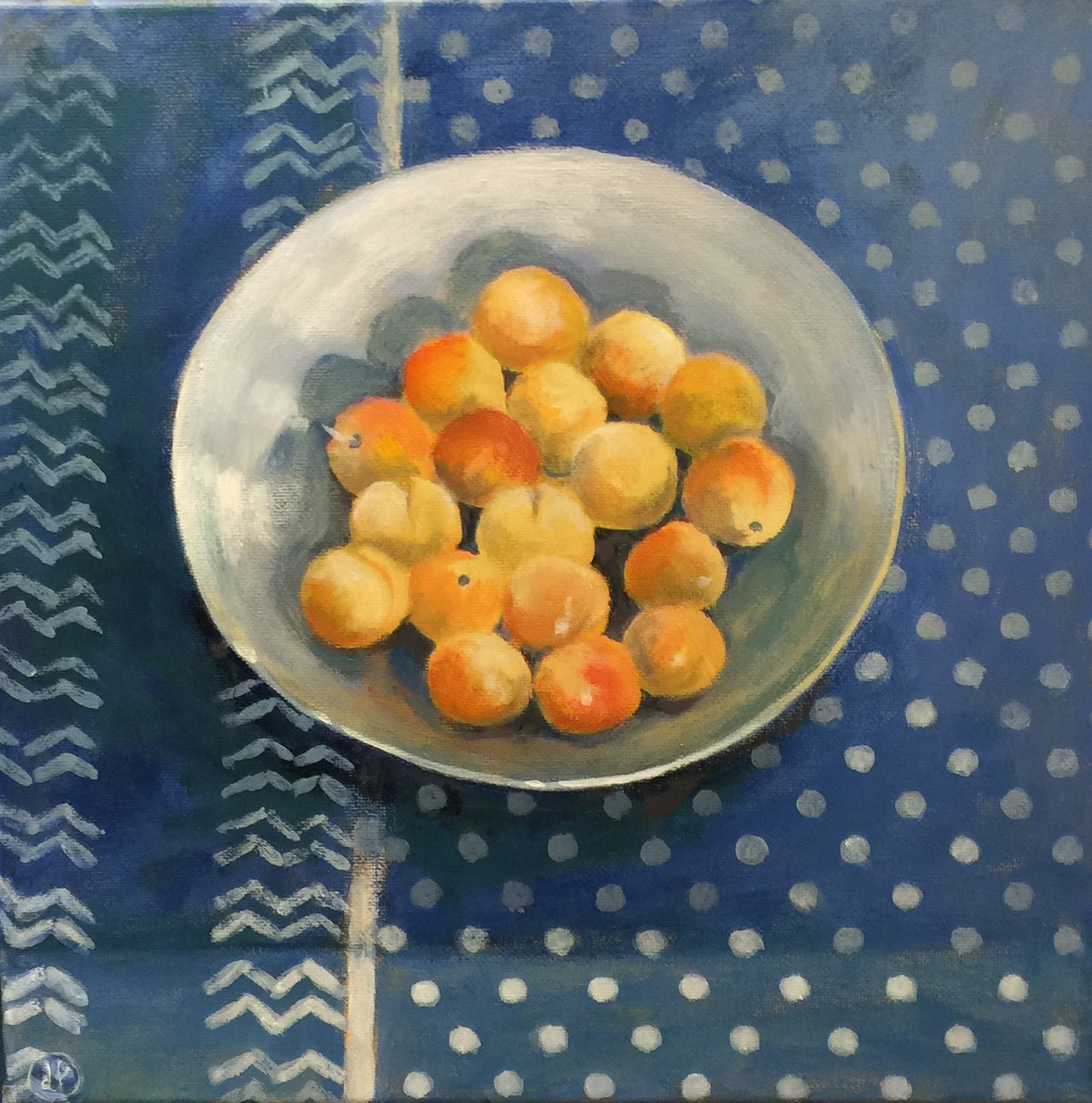 """<span class=""""link fancybox-details-link""""><a href=""""/artists/34-joyce-pinch/works/1639-joyce-pinch-charmeneuil-plums/"""">View Detail Page</a></span><div class=""""artist""""><strong>Joyce Pinch</strong></div> <div class=""""title""""><em>Charmeneuil Plums</em></div> <div class=""""medium"""">Acrylic on Canvas (framed)</div> <div class=""""dimensions"""">30 x 30 cm</div><div class=""""price"""">£300.00</div><div class=""""copyright_line"""">Copyright The Artist</div>"""
